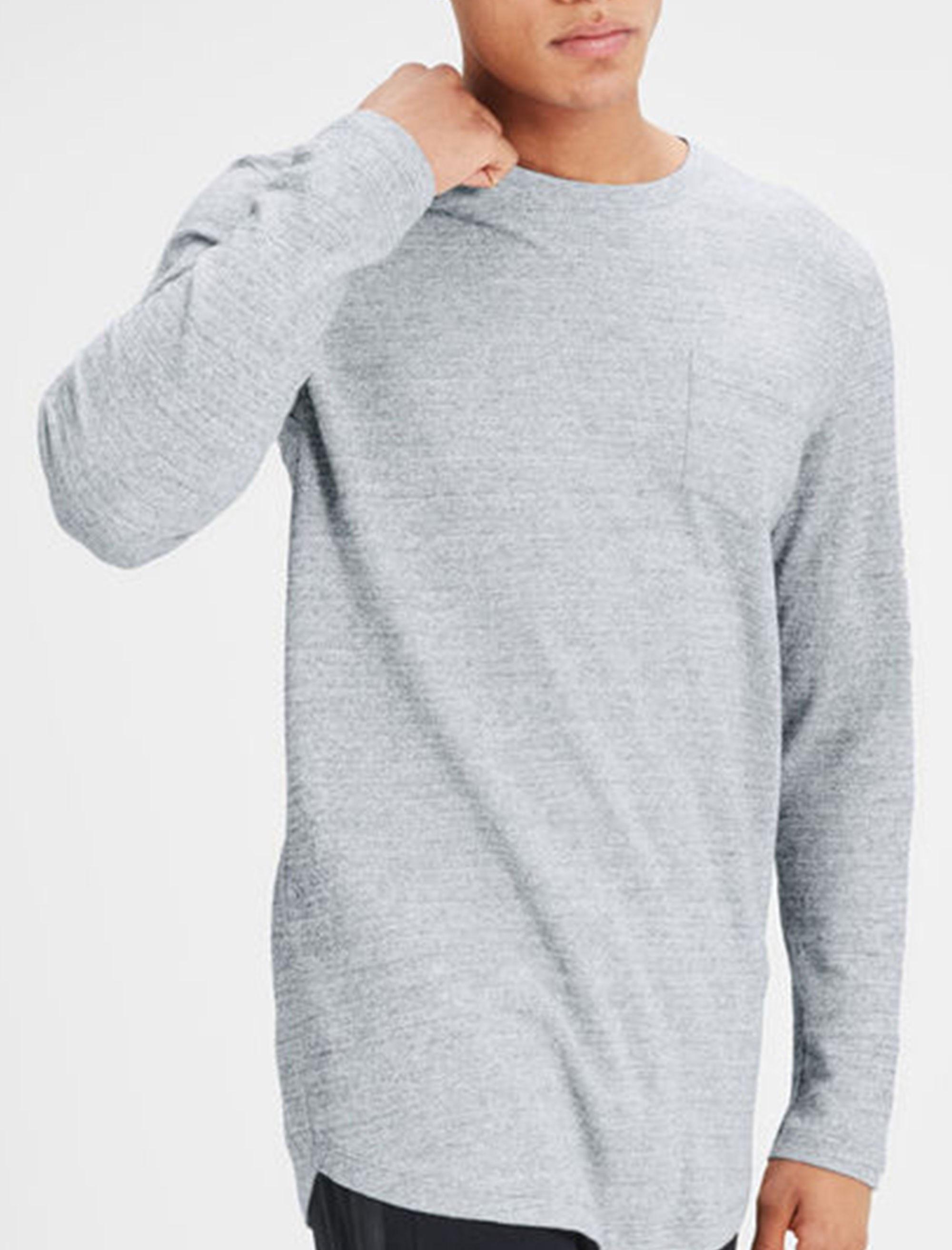 تی شرت نخی آستین بلند مردانه - جک اند جونز - طوسي - 3