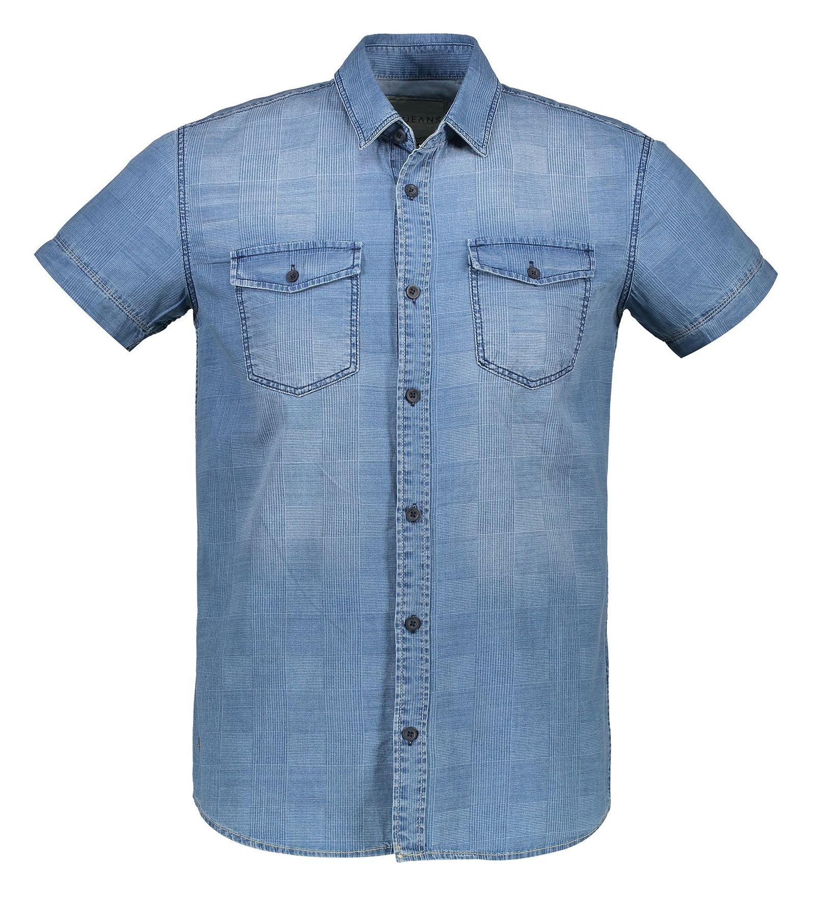 پیراهن جین آستین کوتاه مردانه - ال سی وایکیکی - آبي - 1