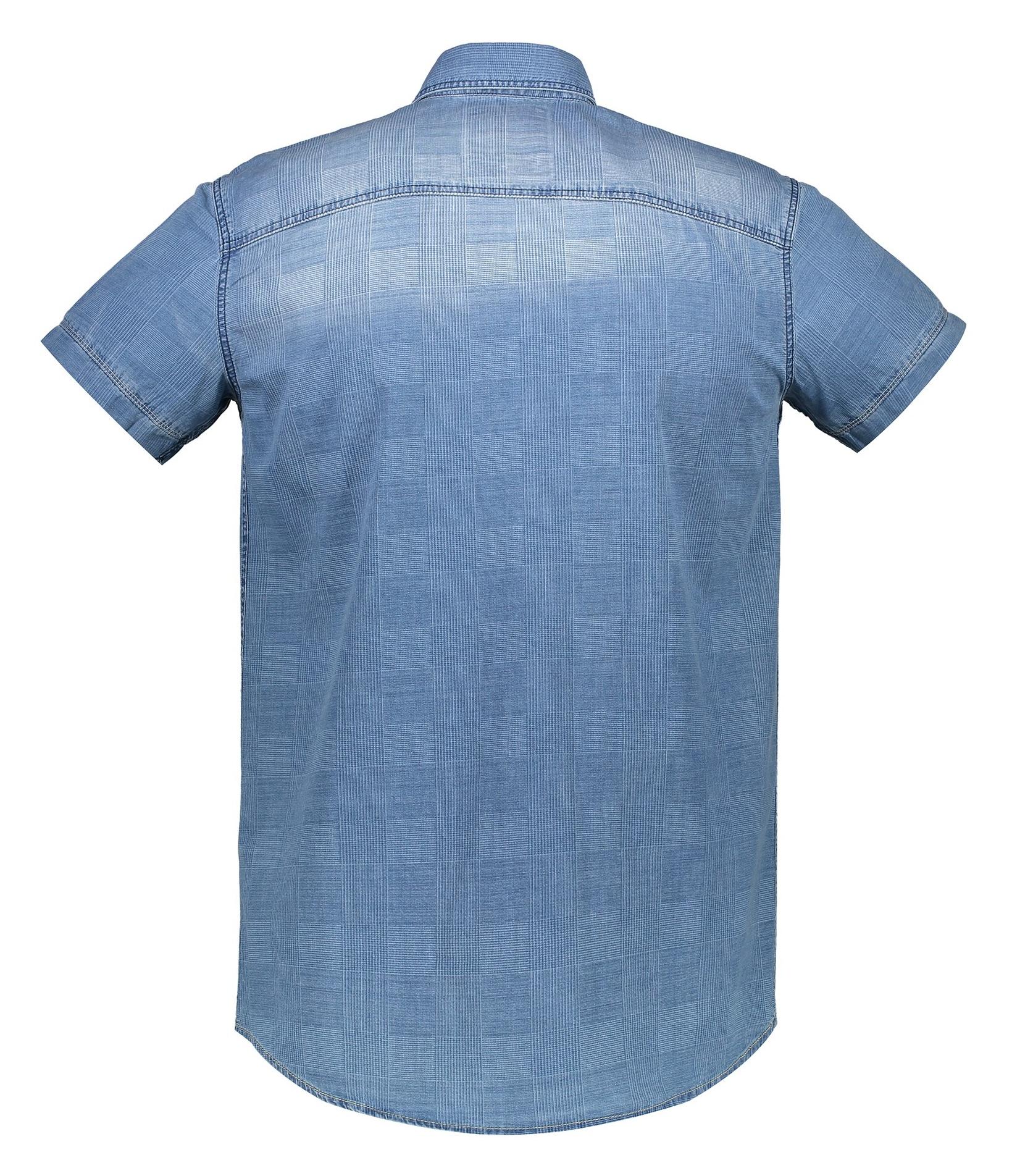 پیراهن جین آستین کوتاه مردانه - ال سی وایکیکی - آبي - 2