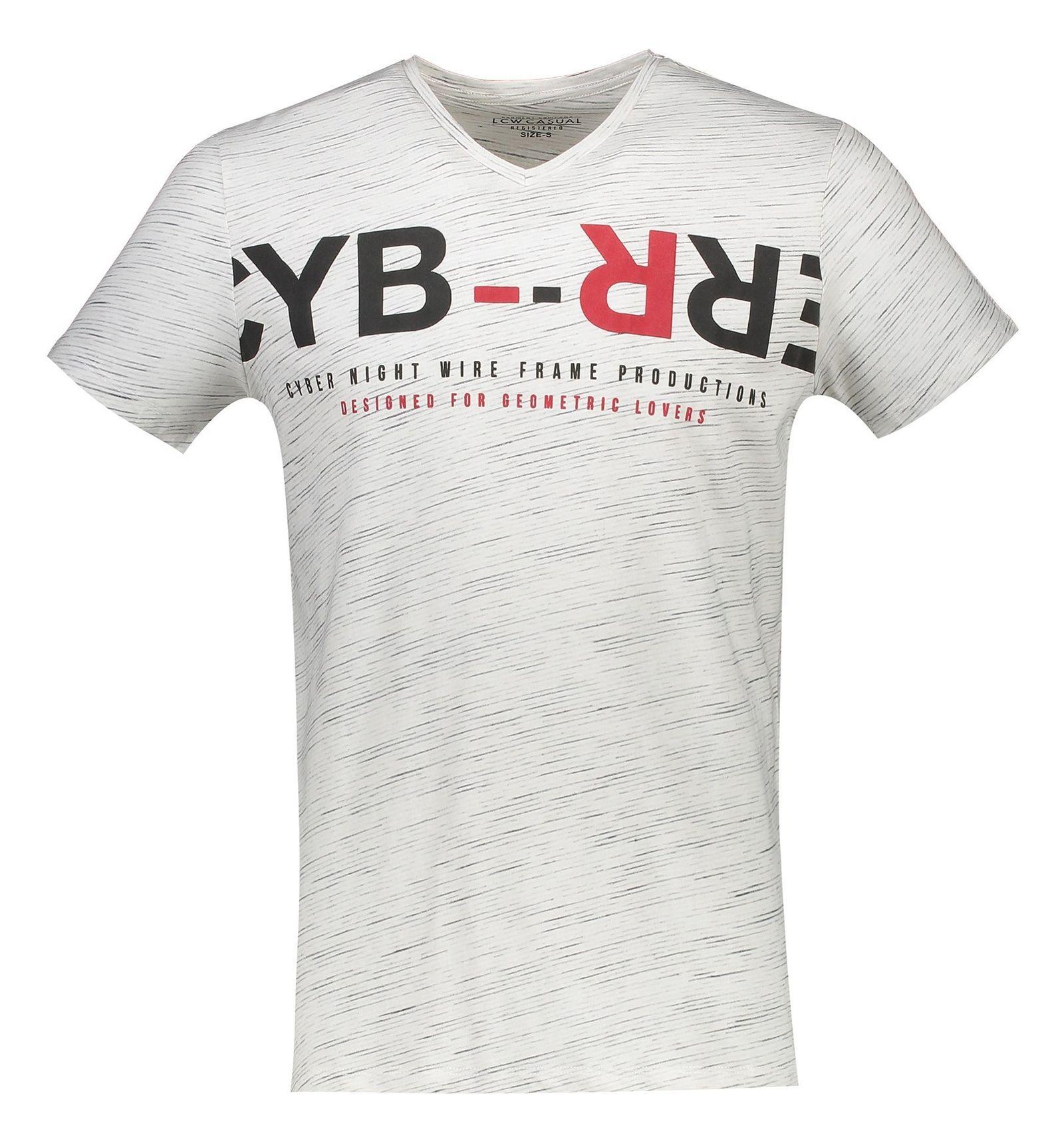 تی شرت نخی مردانه - ال سی وایکیکی - کرم  - 1