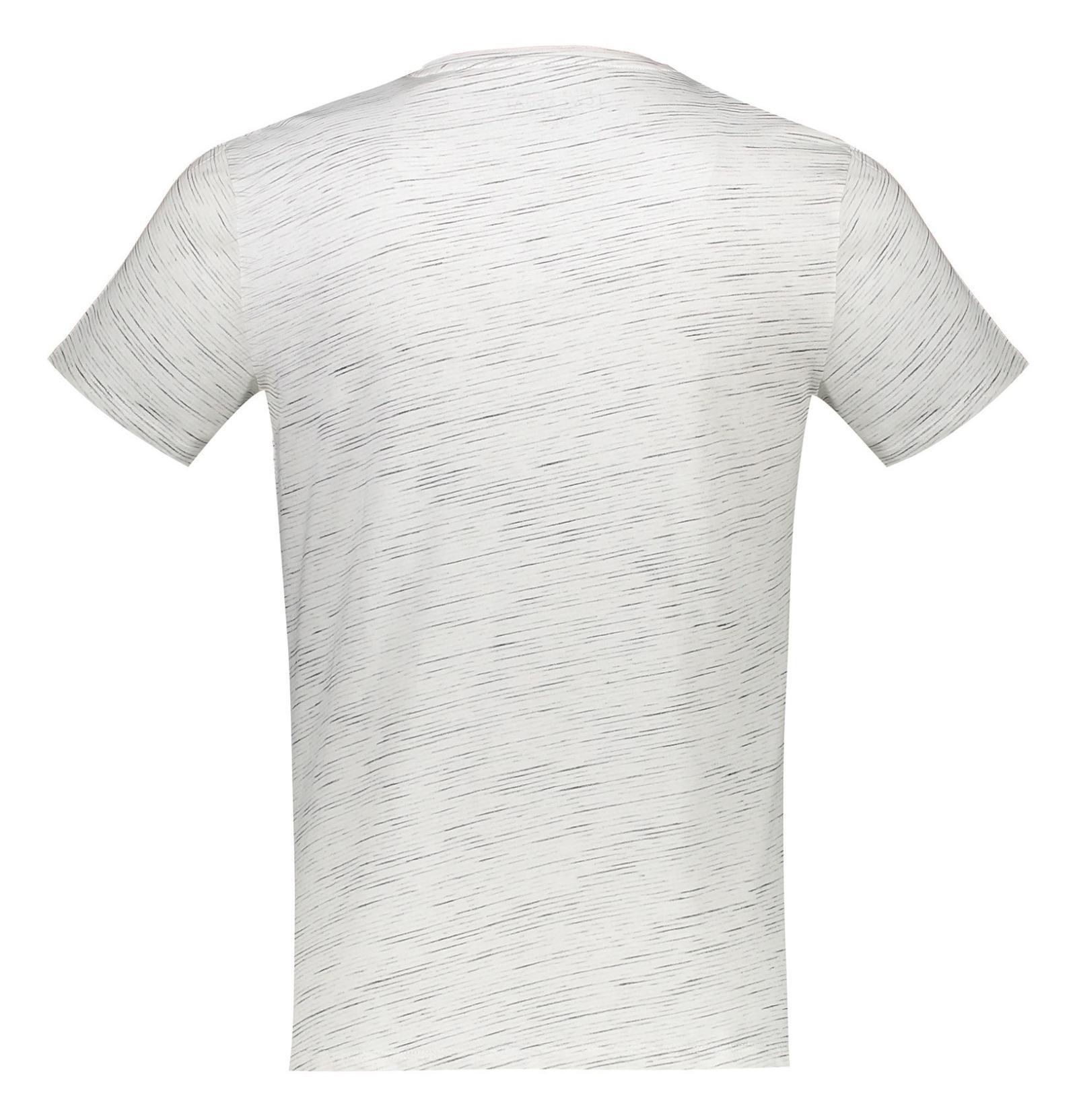 تی شرت نخی مردانه - ال سی وایکیکی - کرم  - 2