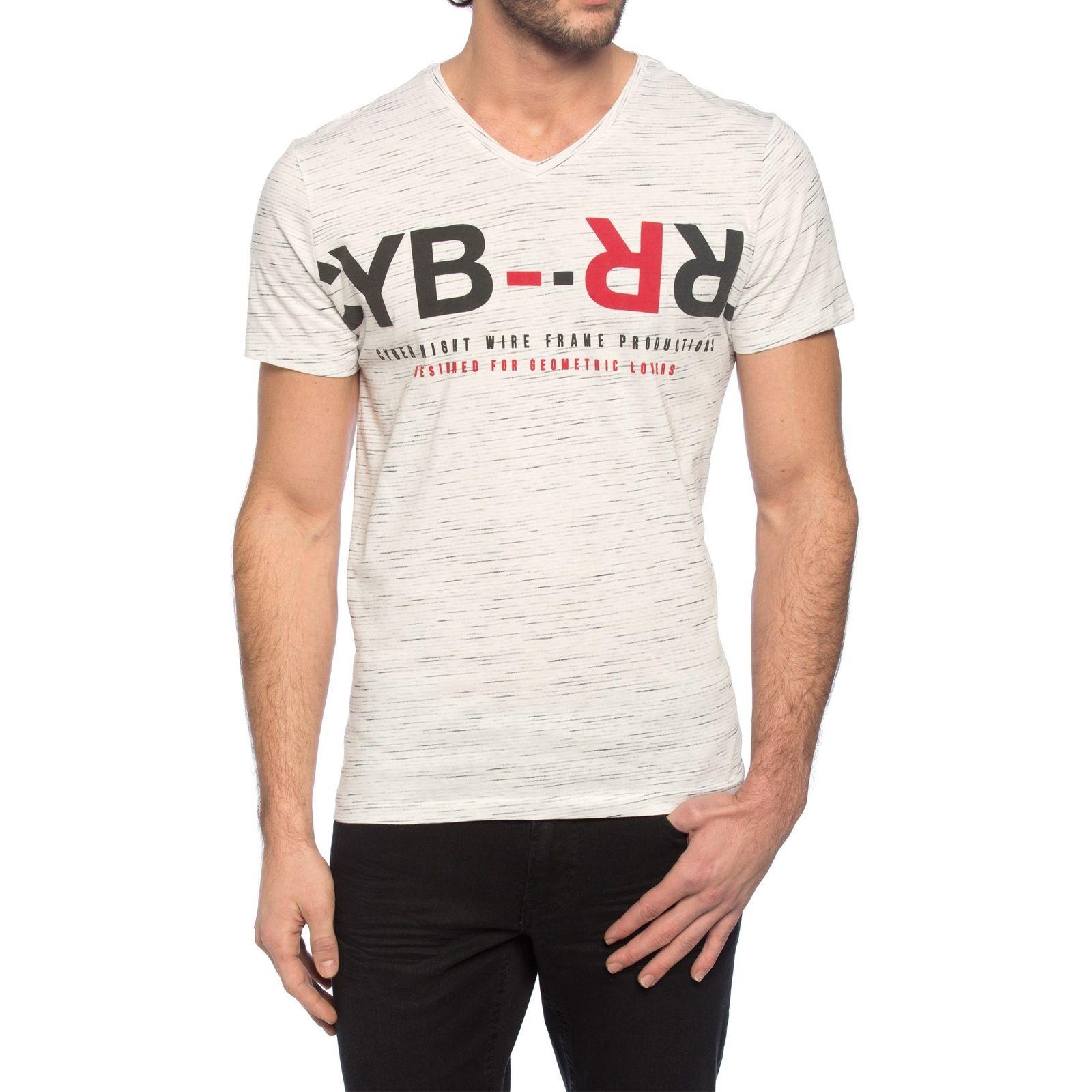 تی شرت نخی مردانه - ال سی وایکیکی - کرم  - 4