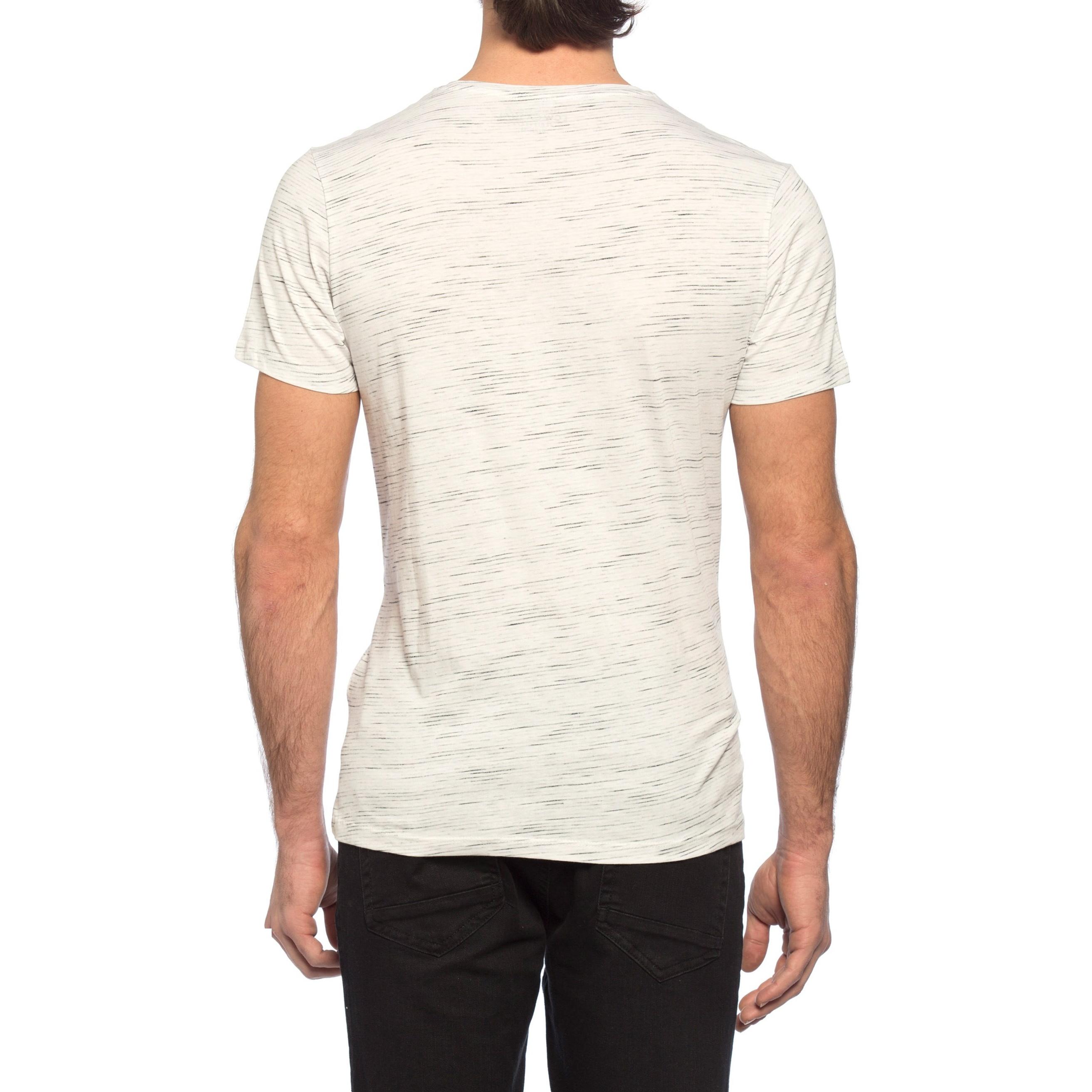 تی شرت نخی مردانه - ال سی وایکیکی - کرم  - 5