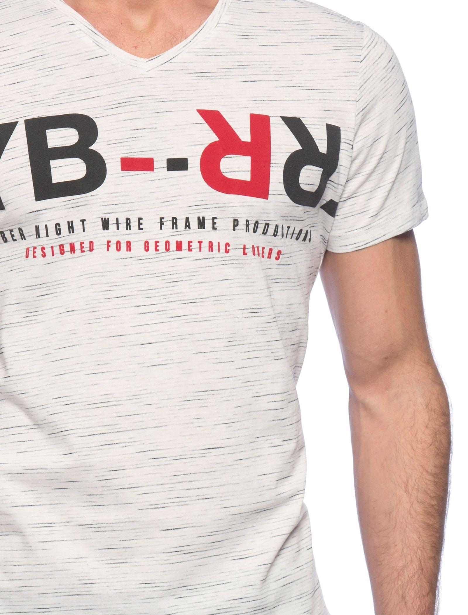تی شرت نخی مردانه - ال سی وایکیکی - کرم  - 6