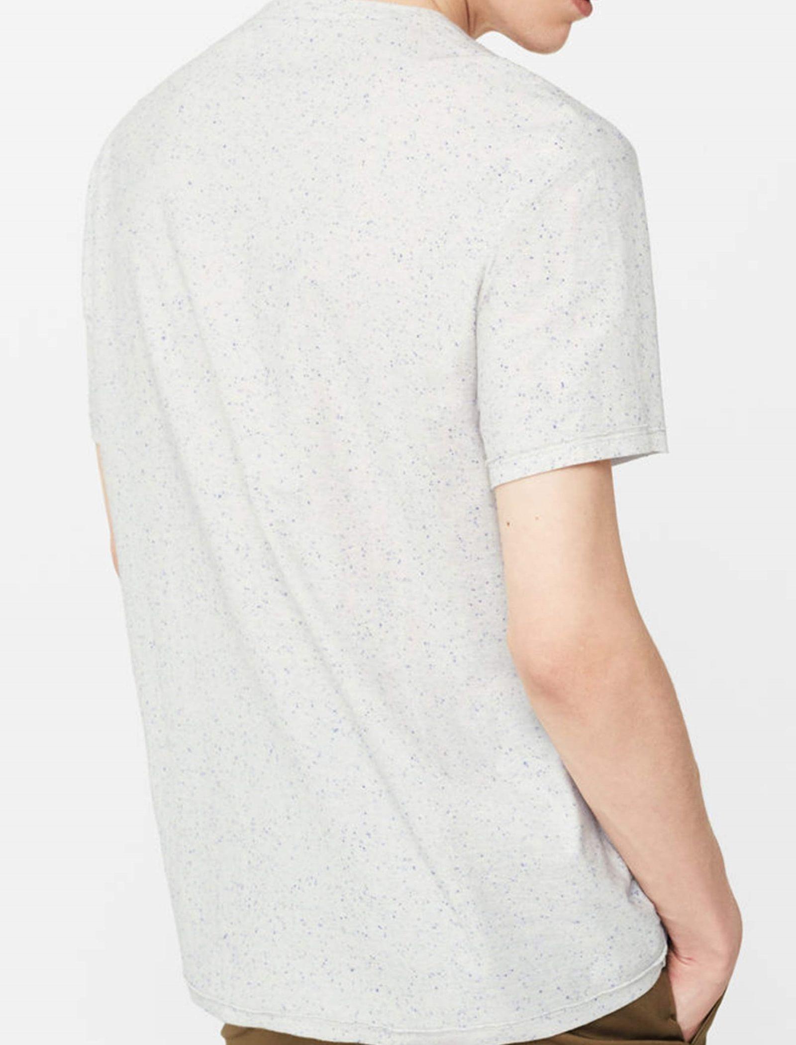 تی شرت نخی آستین کوتاه مردانه - مانگو - سفيد     - 4