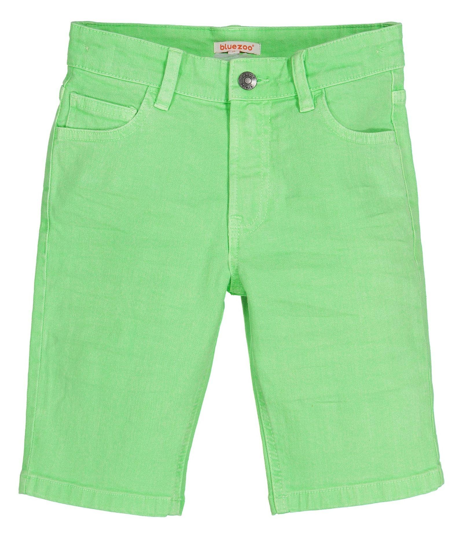 شلوارک جین راسته پسرانه - بلوزو - سبز روشن - 1
