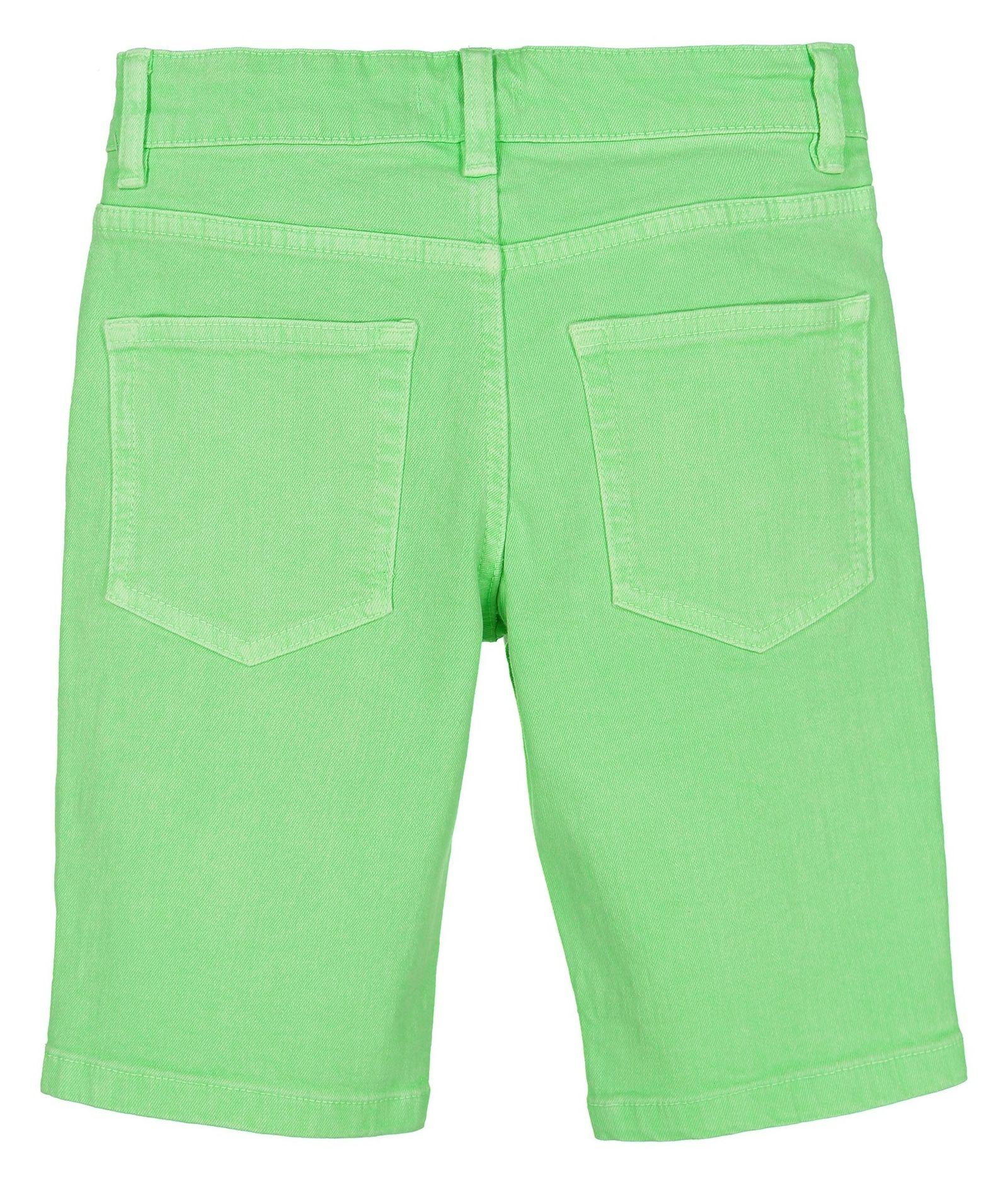 شلوارک جین راسته پسرانه - بلوزو - سبز روشن - 2