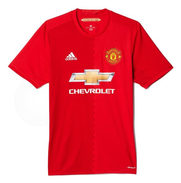 تی شرت ورزشی آستین کوتاه مردانه Manchester United FC Home Replica - آدیداس