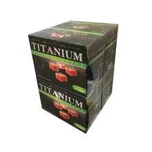 زغال تیتانیوم کد 22 وزن 250 گرم بسته 4 عددی