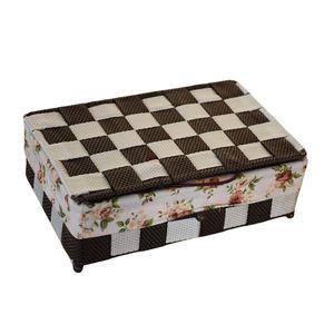 جا کارد و چنگال پگاه صنعت طرح شطرنجی کد JK196b