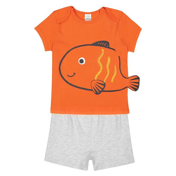 تی شرت و شلوارک نخی نوزادی پسرانه - ال سی وایکیکی