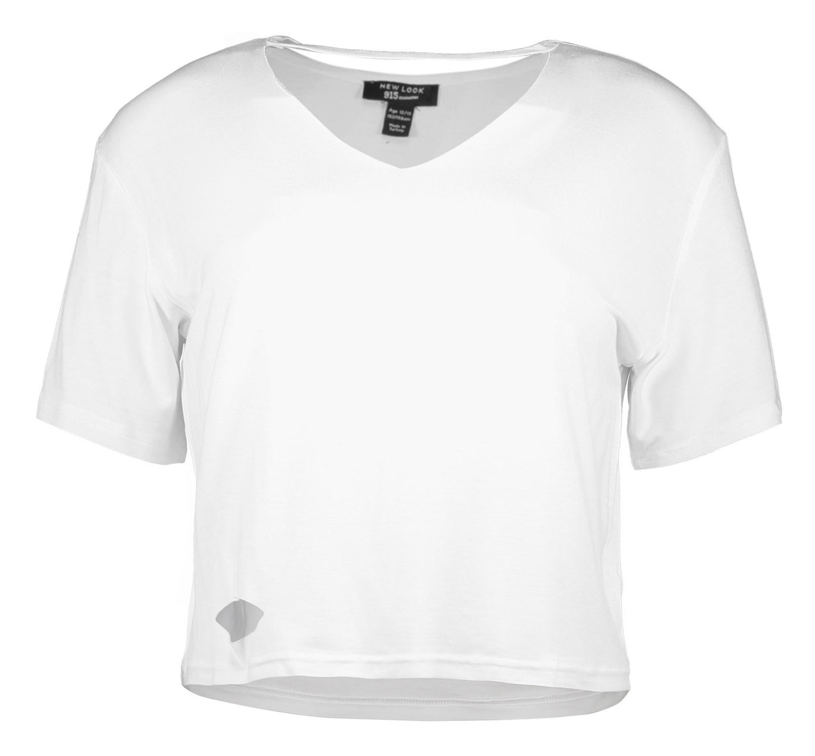 تی شرت ویسکوز آستین کوتاه دخترانه - نیو لوک - سفيد - 1