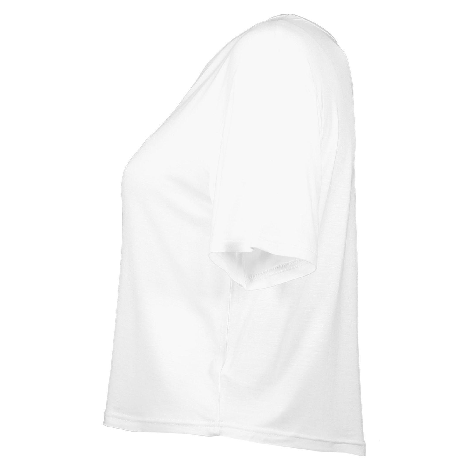 تی شرت ویسکوز آستین کوتاه دخترانه - نیو لوک - سفيد - 3