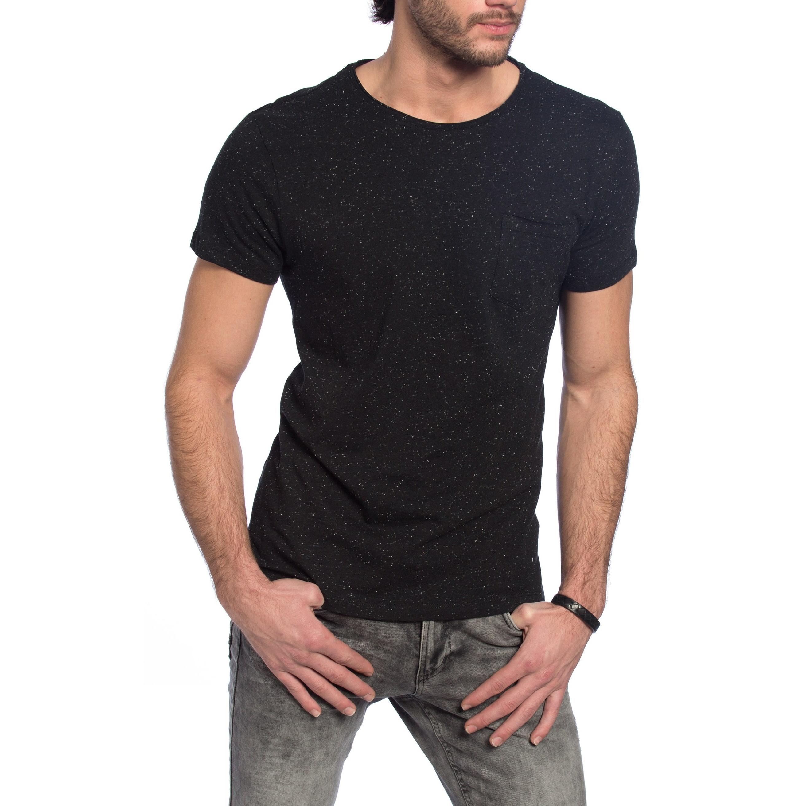 تی شرت نخی یقه گرد مردانه - ال سی وایکیکی - مشکي - 5