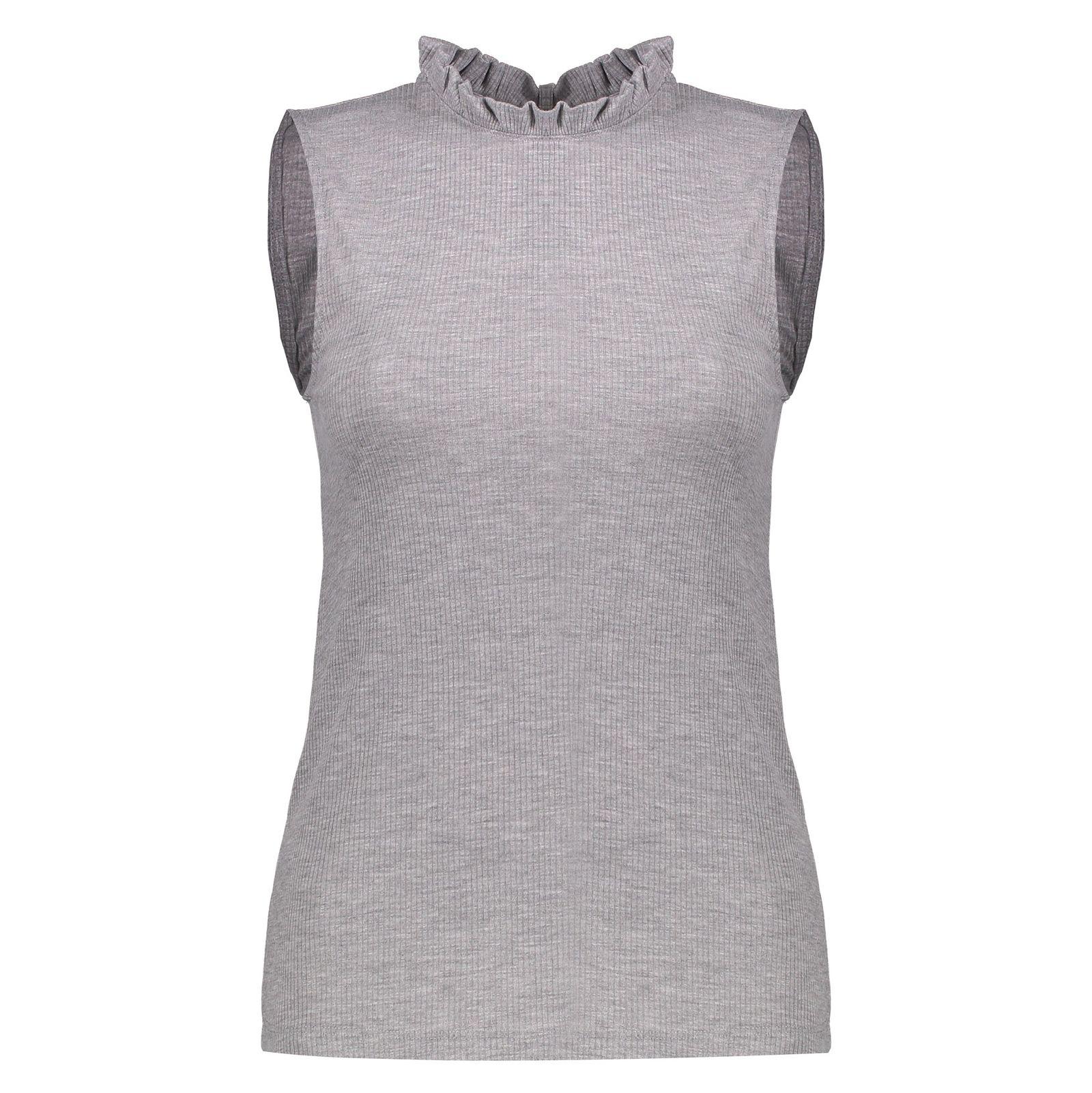 تی شرت آستین حلقه ای زنانه - پی سز - طوسي ملانژ - 2