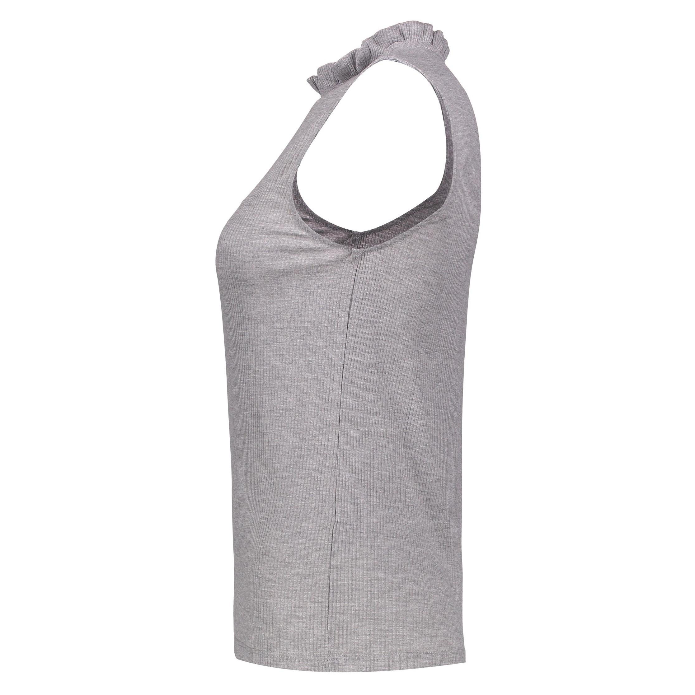 تی شرت آستین حلقه ای زنانه - پی سز - طوسي ملانژ - 4