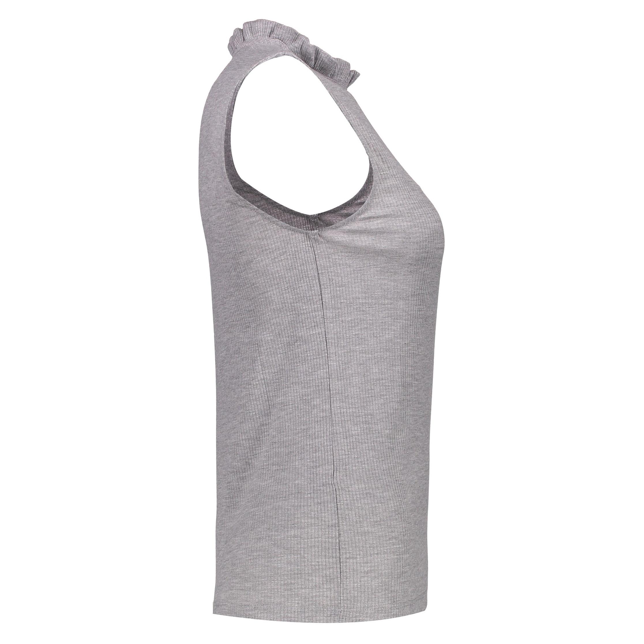 تی شرت آستین حلقه ای زنانه - پی سز - طوسي ملانژ - 5