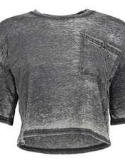 تی شرت یقه گرد زنانه - میسگایدد - طوسي - 4