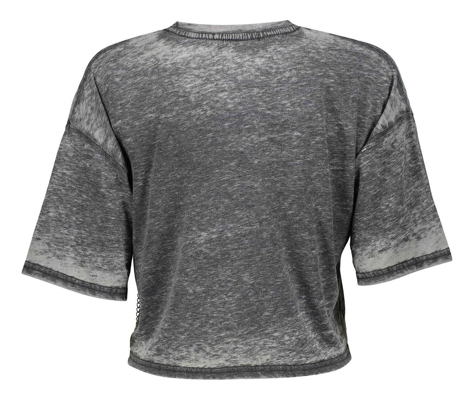 تی شرت یقه گرد زنانه - میسگایدد - طوسي - 2