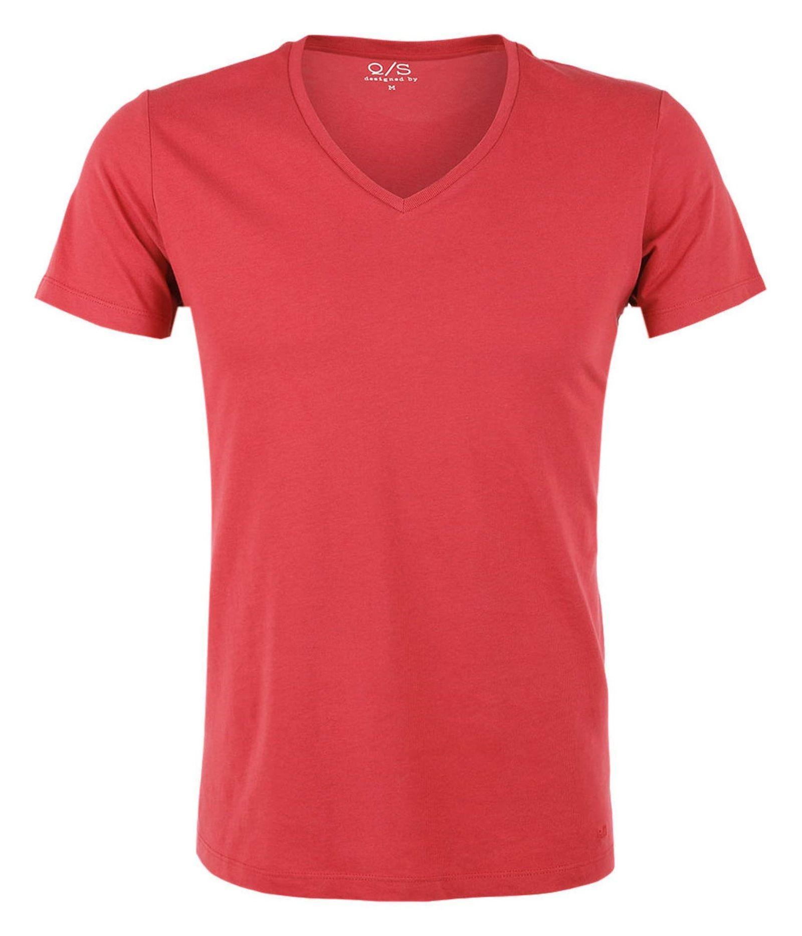 تی شرت نخی یقه هفت مردانه - اس.اولیور - قرمز - 1