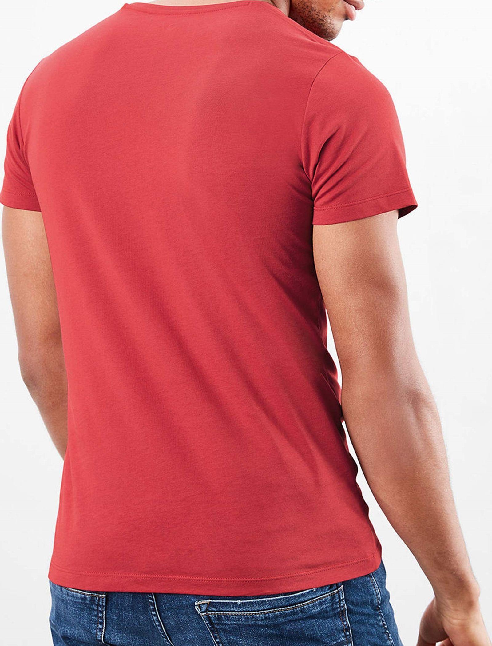 تی شرت نخی یقه هفت مردانه - اس.اولیور - قرمز - 3