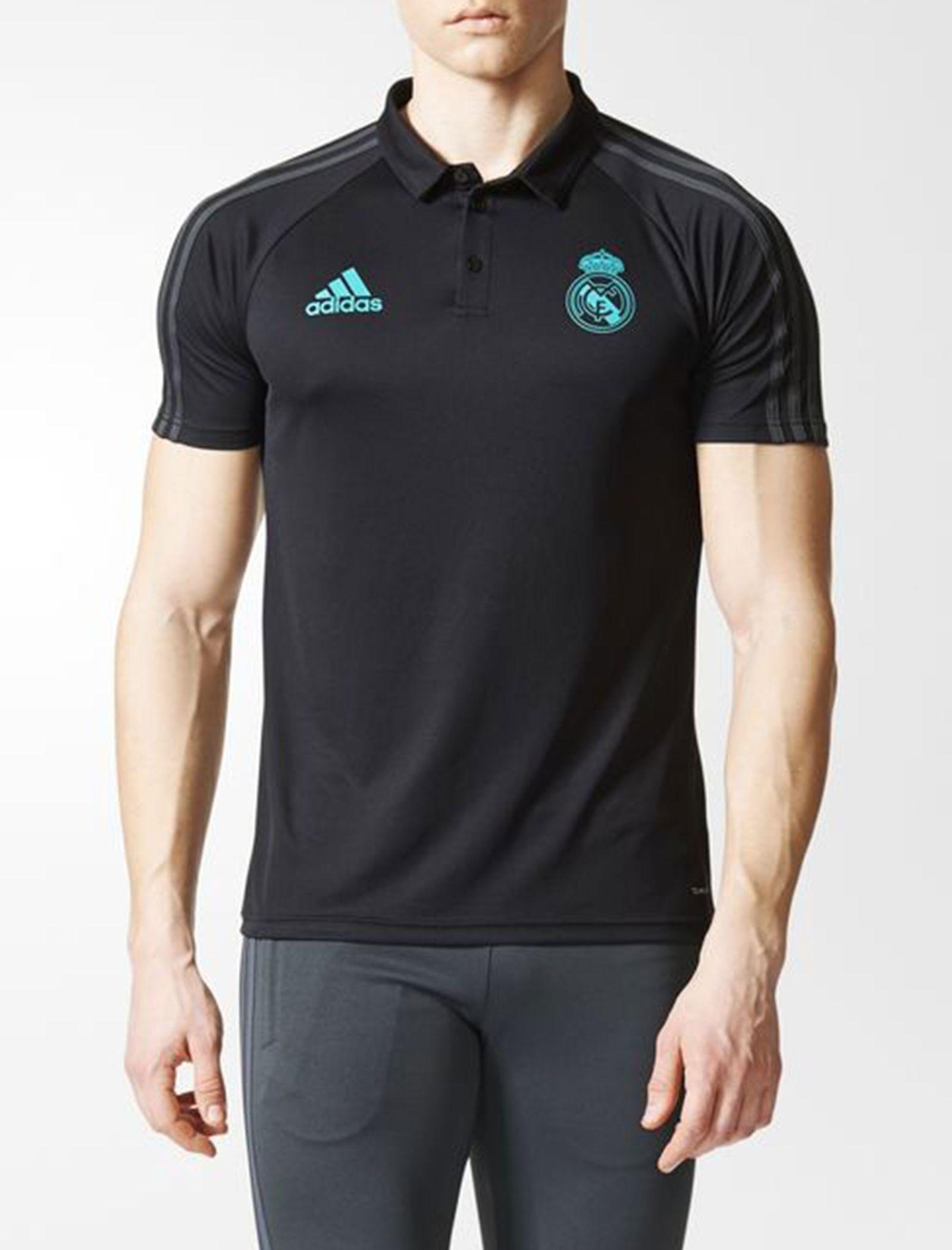 پولوشرت ورزشی آستین کوتاه مردانه Real Madrid - آدیداس - مشکي - 3