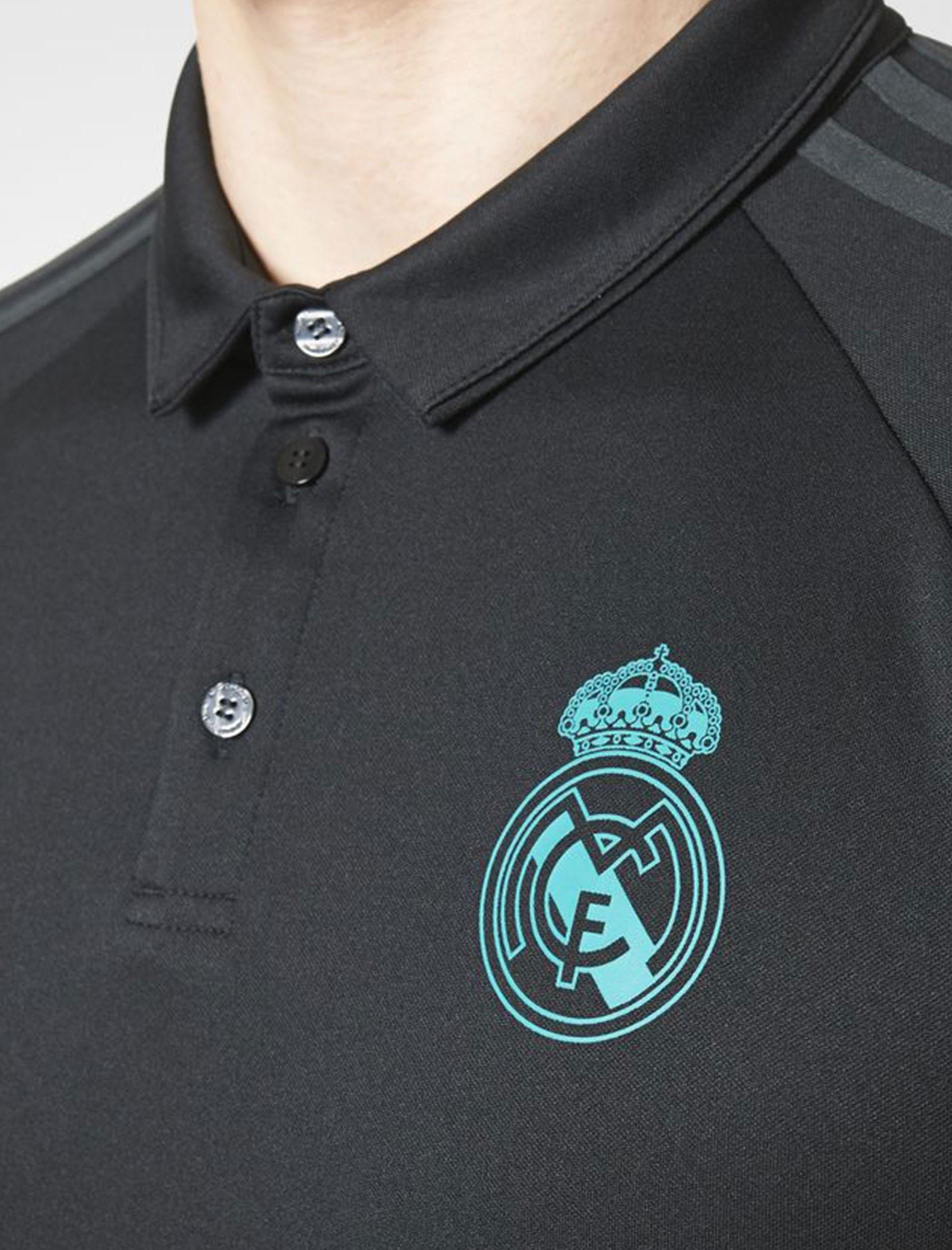 پولوشرت ورزشی آستین کوتاه مردانه Real Madrid - آدیداس - مشکي - 6