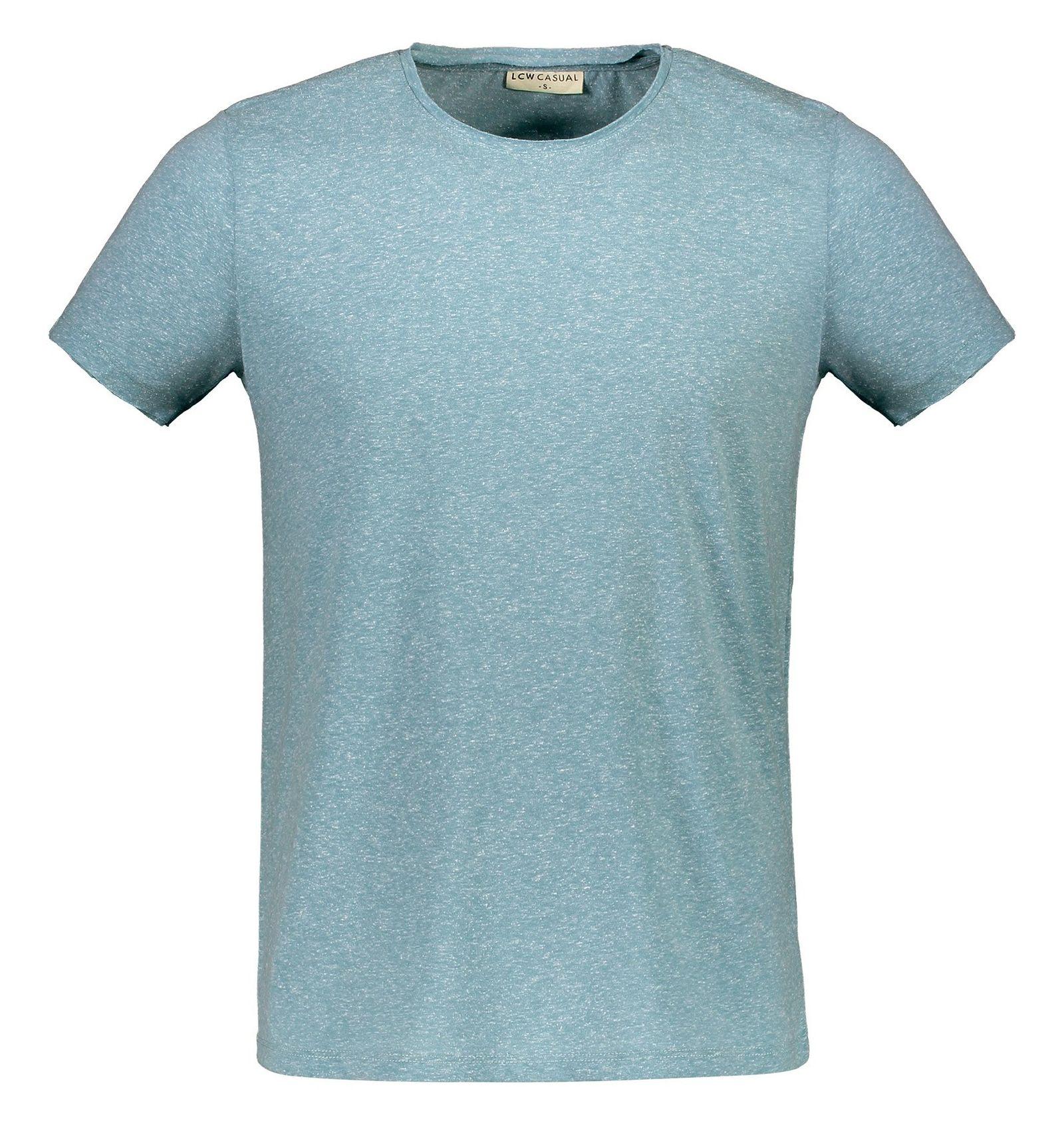 تی شرت یقه گرد مردانه - ال سی وایکیکی - آبي روشن ملانژ - 1