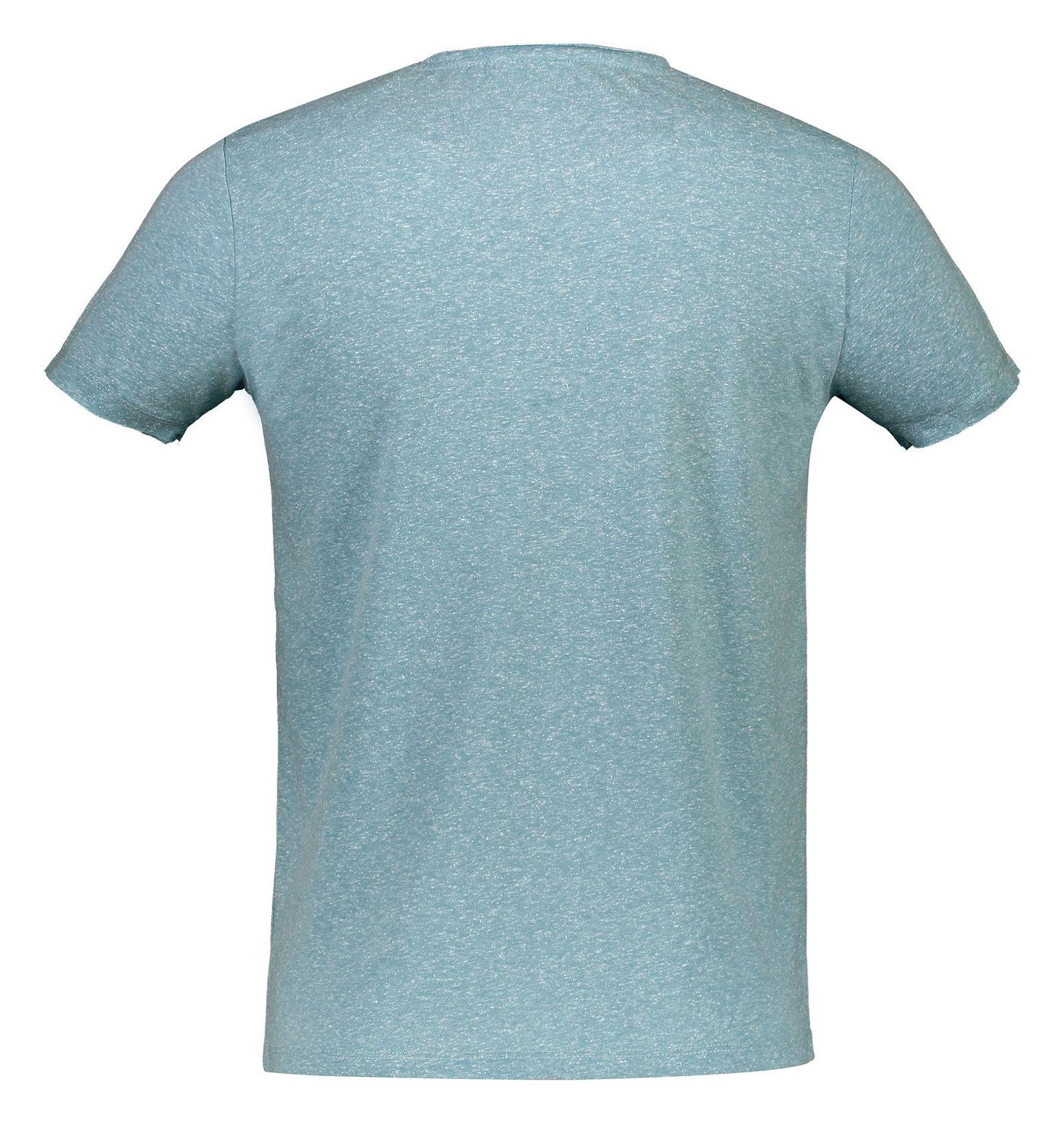 تی شرت یقه گرد مردانه - ال سی وایکیکی - آبي روشن ملانژ - 2