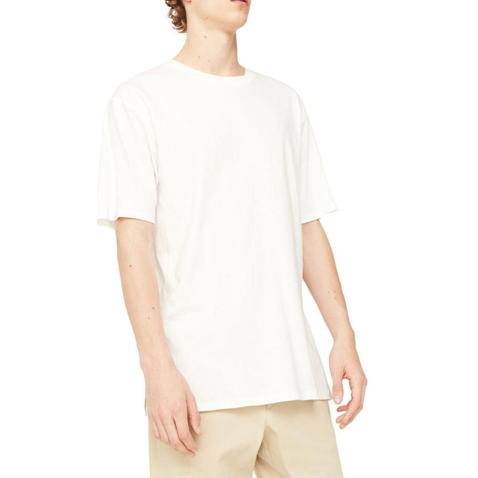 تی شرت نخی یقه گرد مردانه - مانگو - سفيد - 1