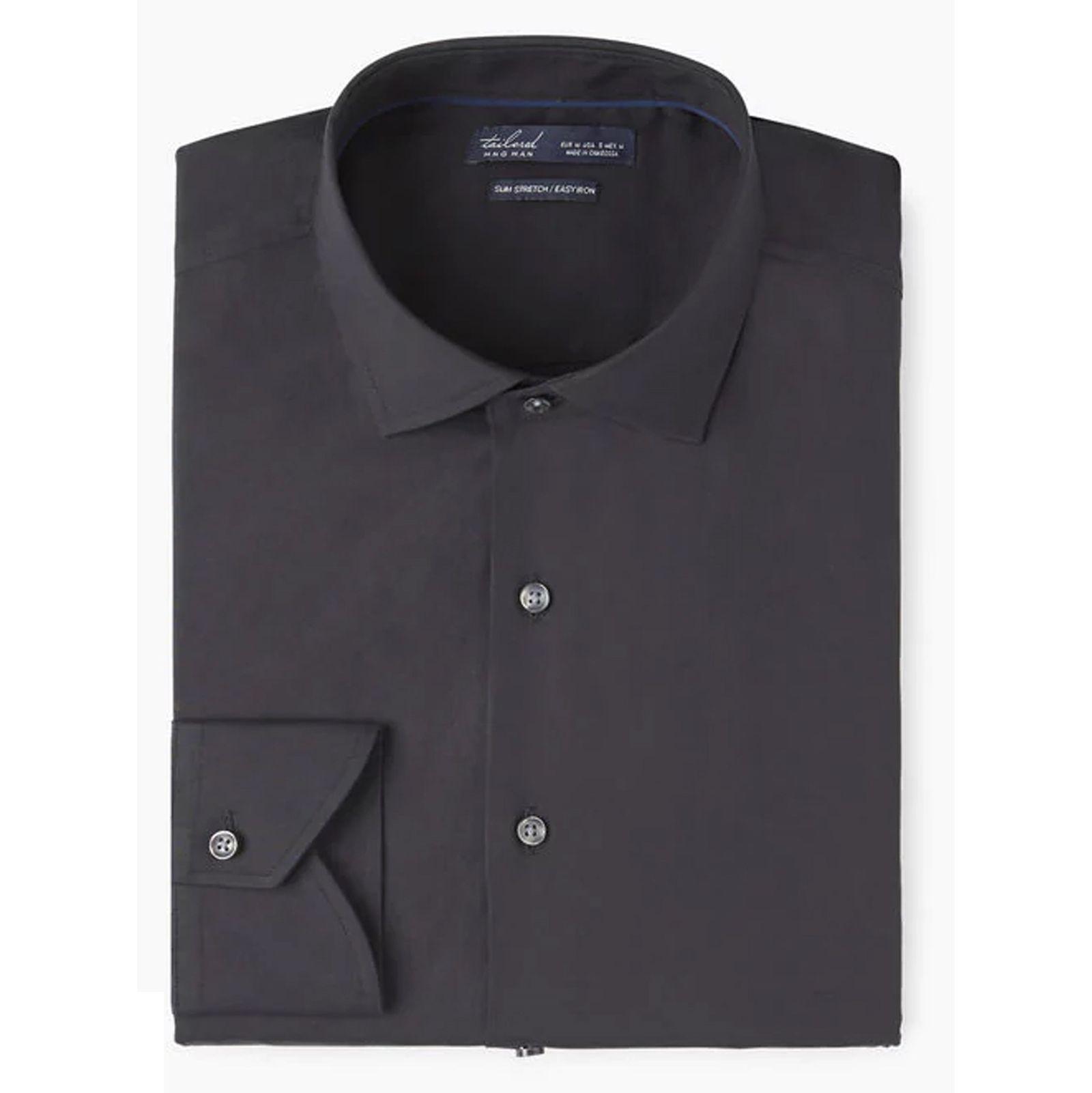 پیراهن نخی آستین بلند مردانه - مانگو - مشکي - 3