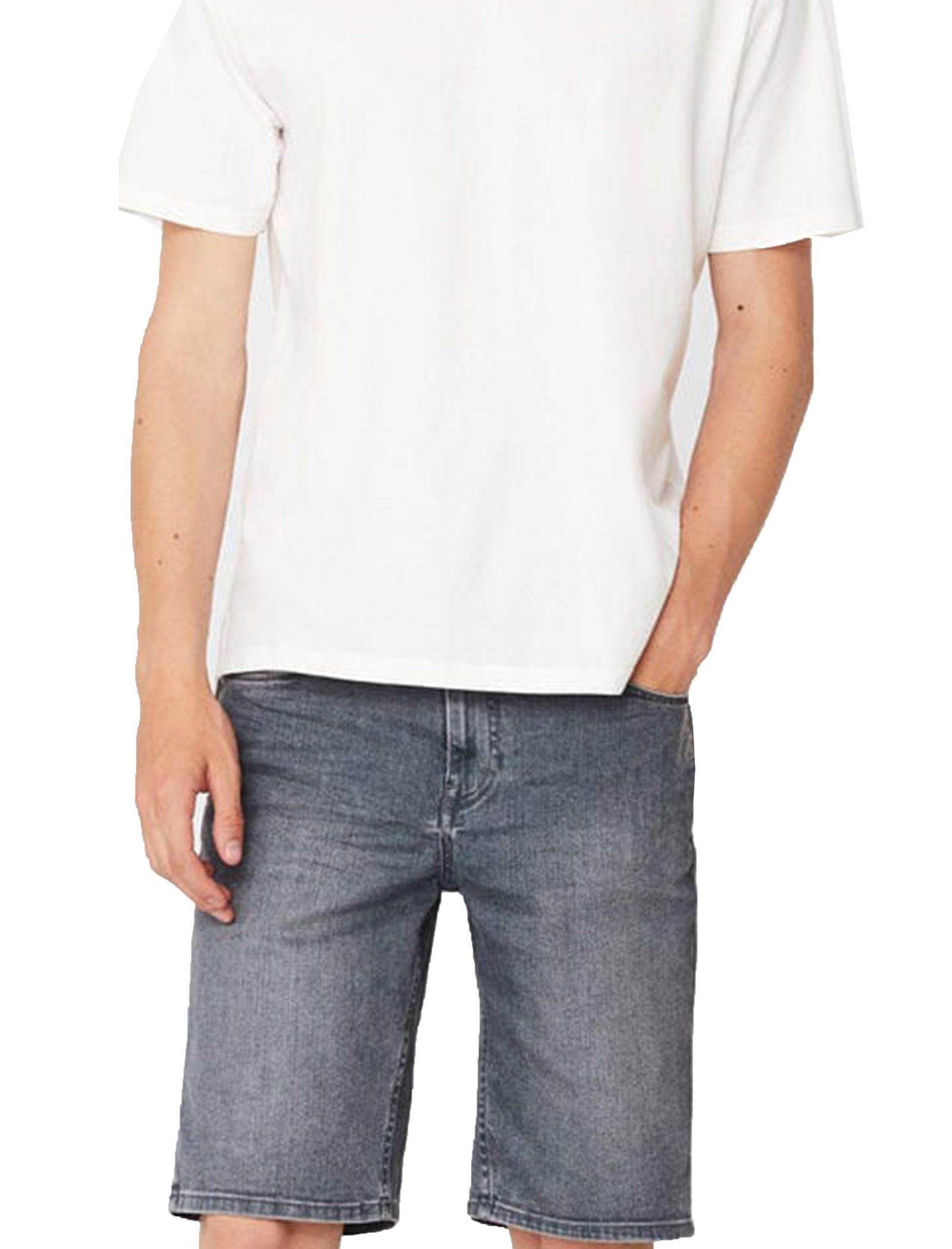 شلوارک جین مردانه - مانگو - طوسي - 1