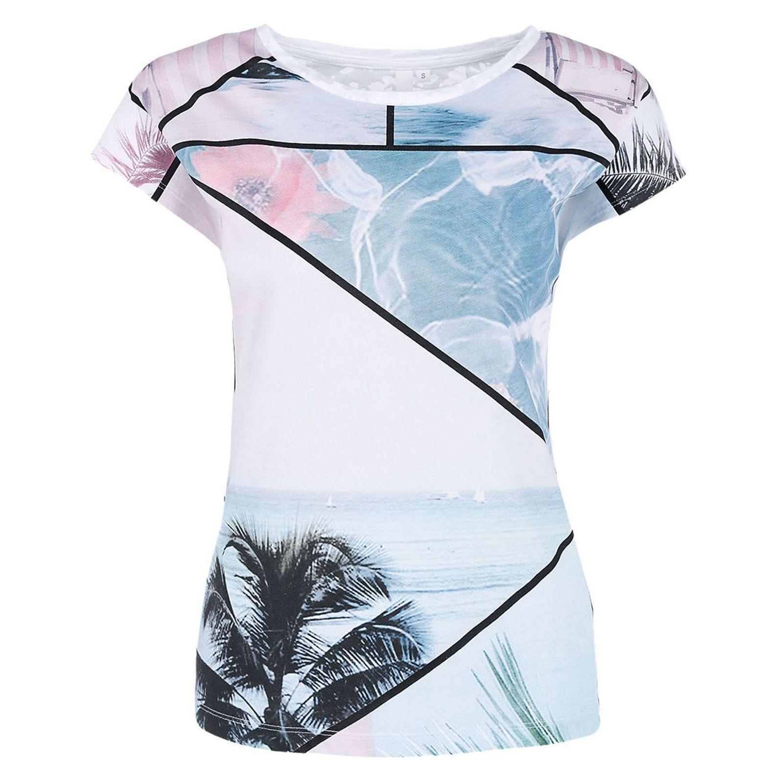 تی شرت نخی یقه گرد زنانه - اس.اولیور - سفيد - 1
