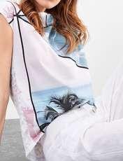 تی شرت نخی یقه گرد زنانه - اس.اولیور - سفيد - 4