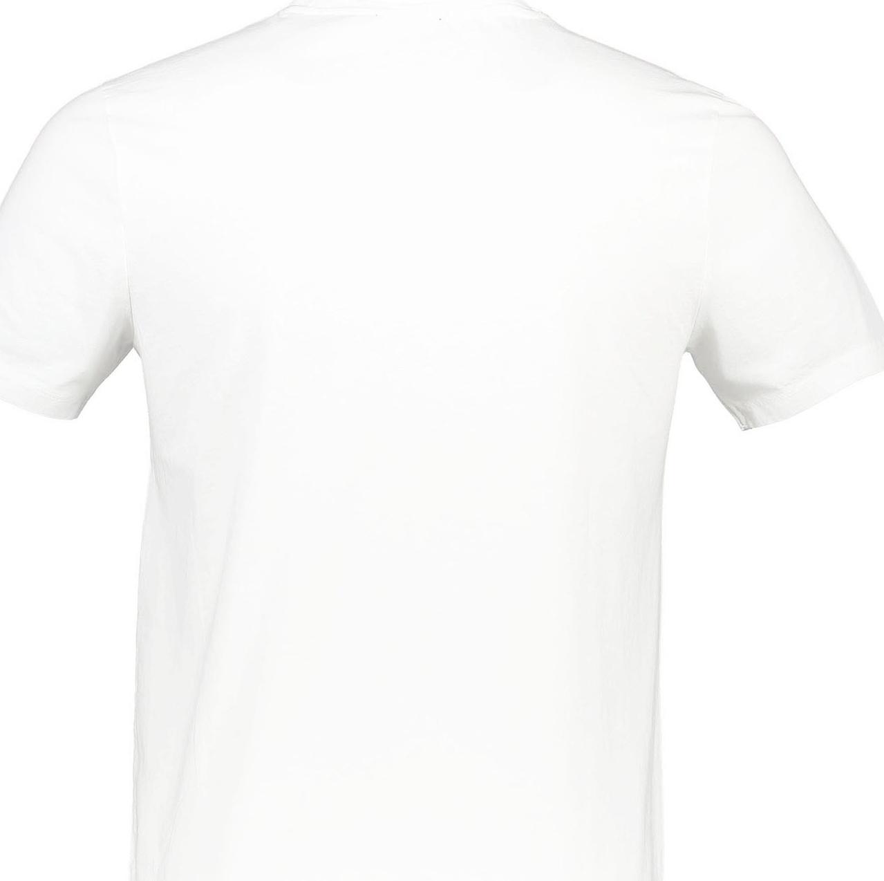 تی شرت نخی یقه گرد مردانه - نیو لوک - سفيد - 2