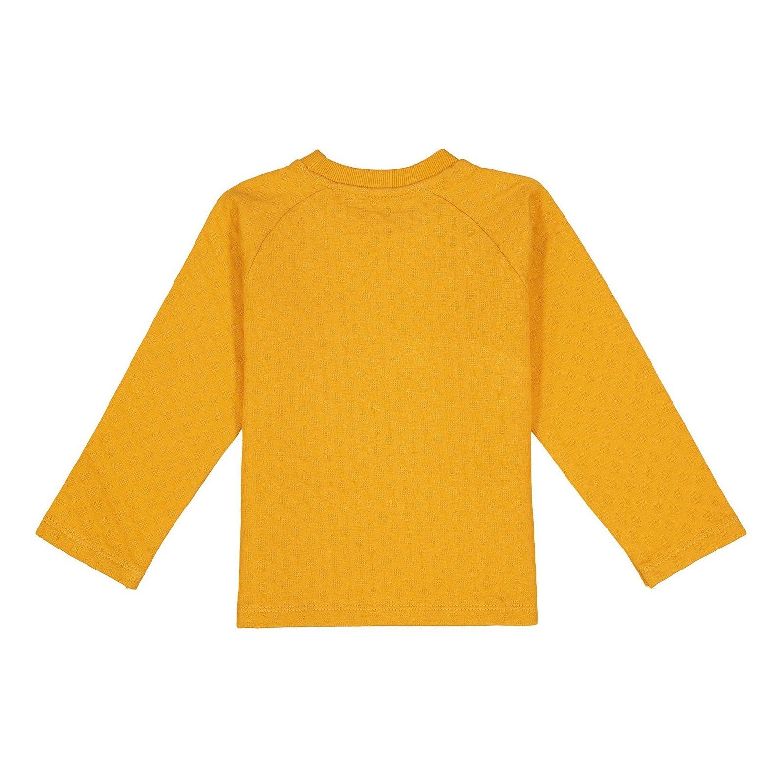 سویشرت جلو بسته پسرانه - سون پون - زرد - 2