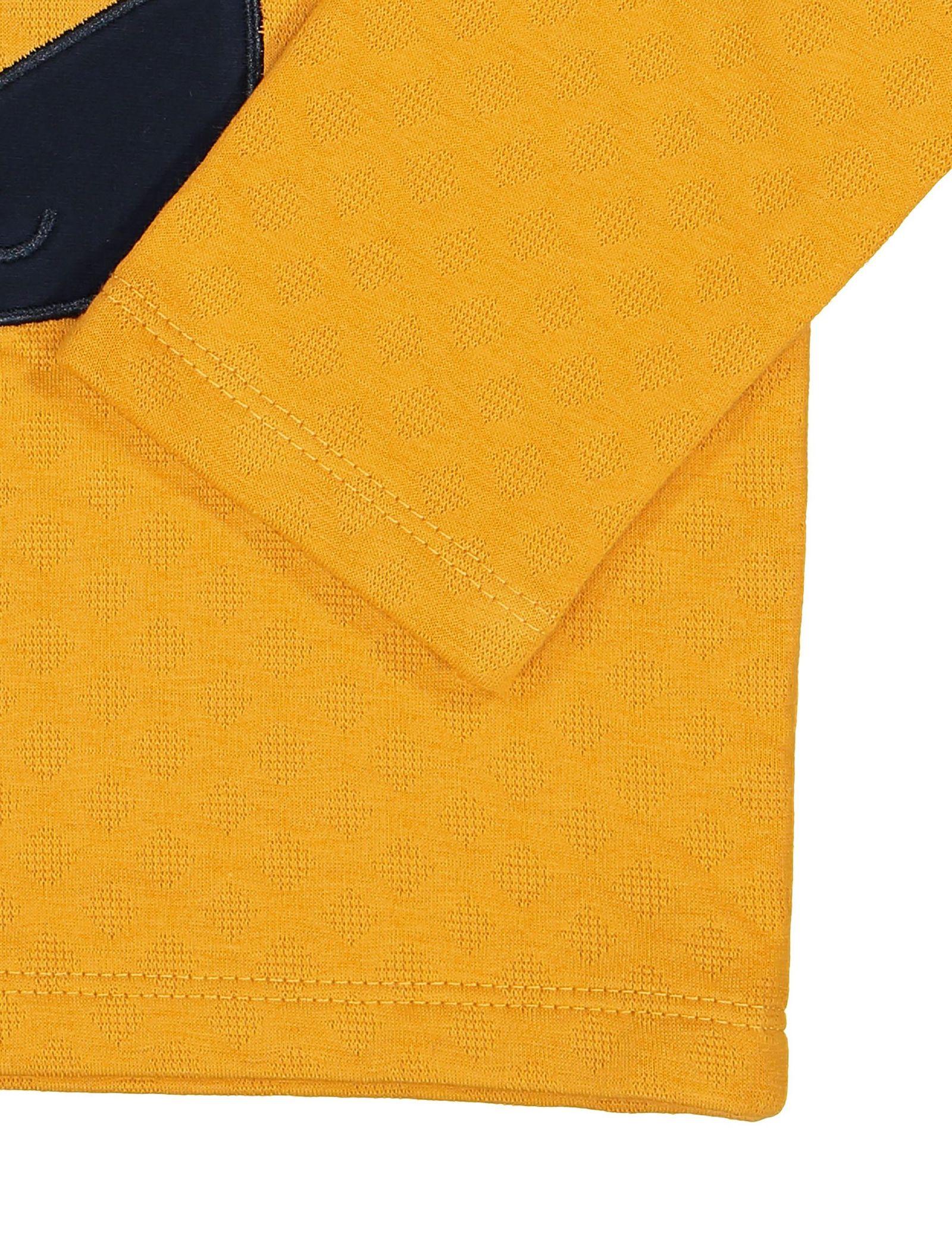 سویشرت جلو بسته پسرانه - سون پون - زرد - 3