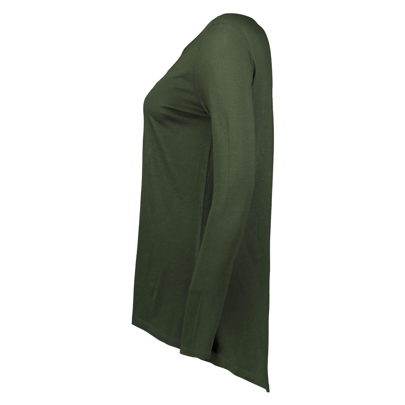 تی شرت نخی آستین بلند زنانه - رد هرینگ - سبز - 3