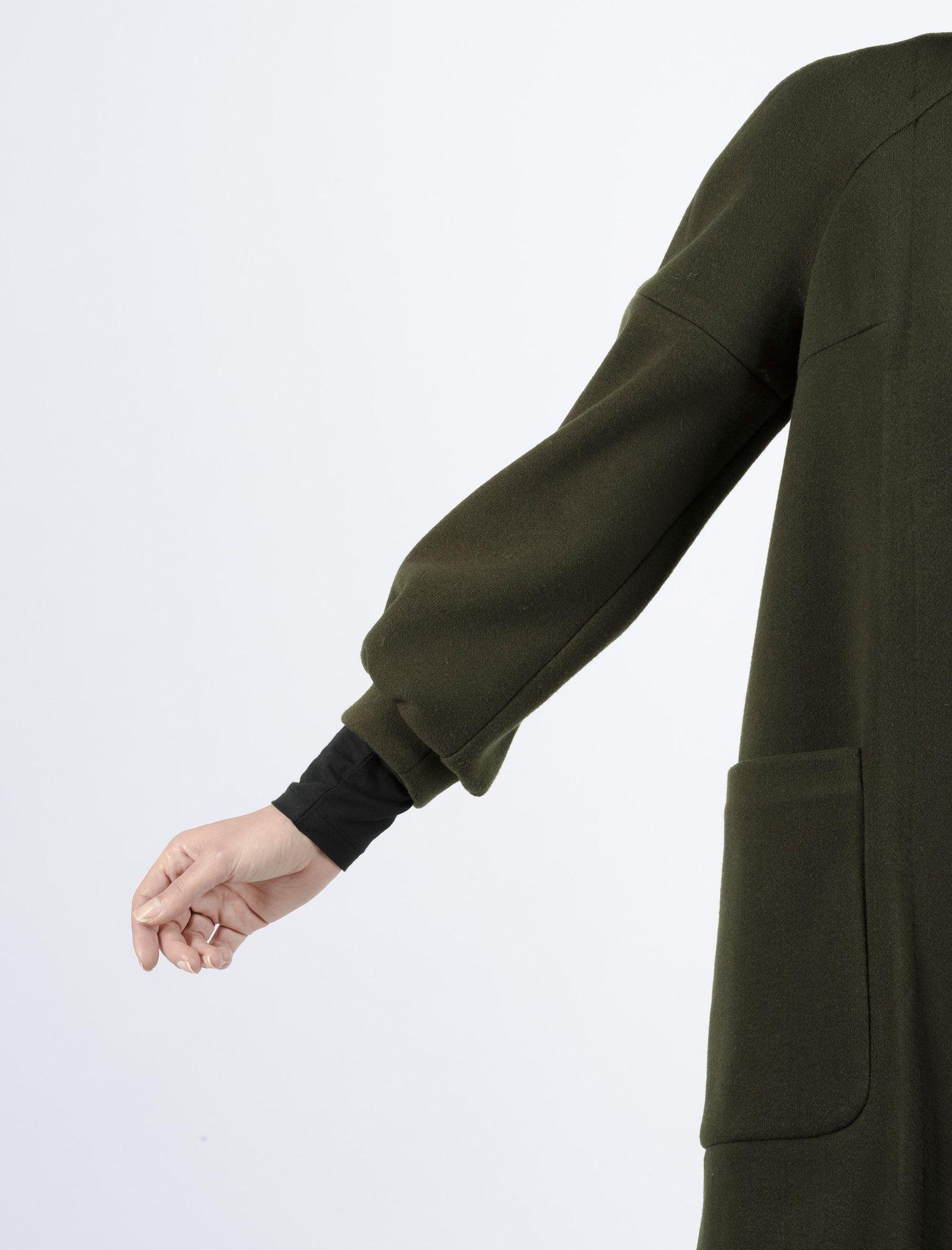 پالتو بلند زنانه - پروچیستا - يشمي - 8
