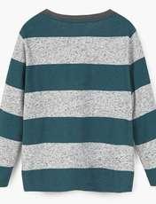 تی شرت آستین بلند پسرانه - مانگو - طوسي و سبز - 3