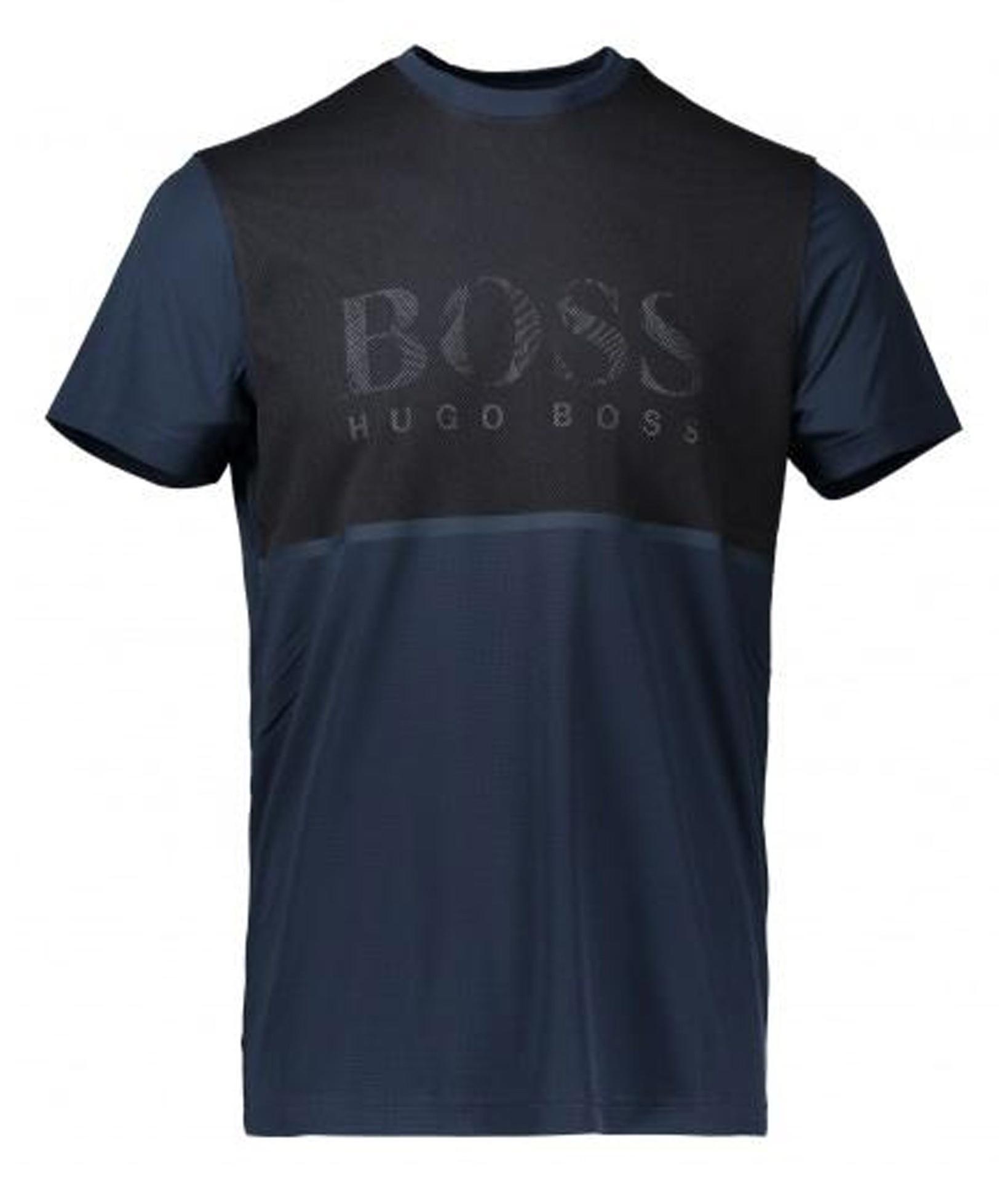 تی شرت یقه گرد مردانه Tearotech - باس - سرمه اي - 1