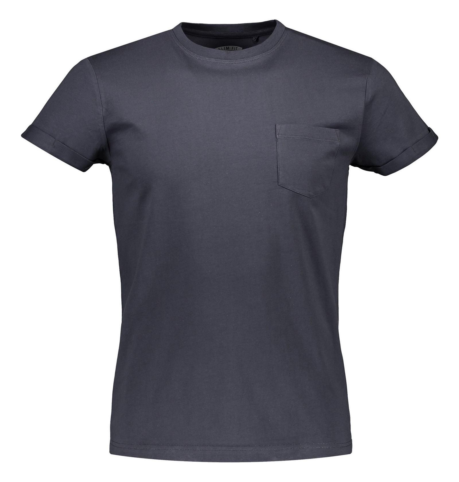 تی شرت نخی یقه گرد مردانه - رد هرینگ - طوسي - 1