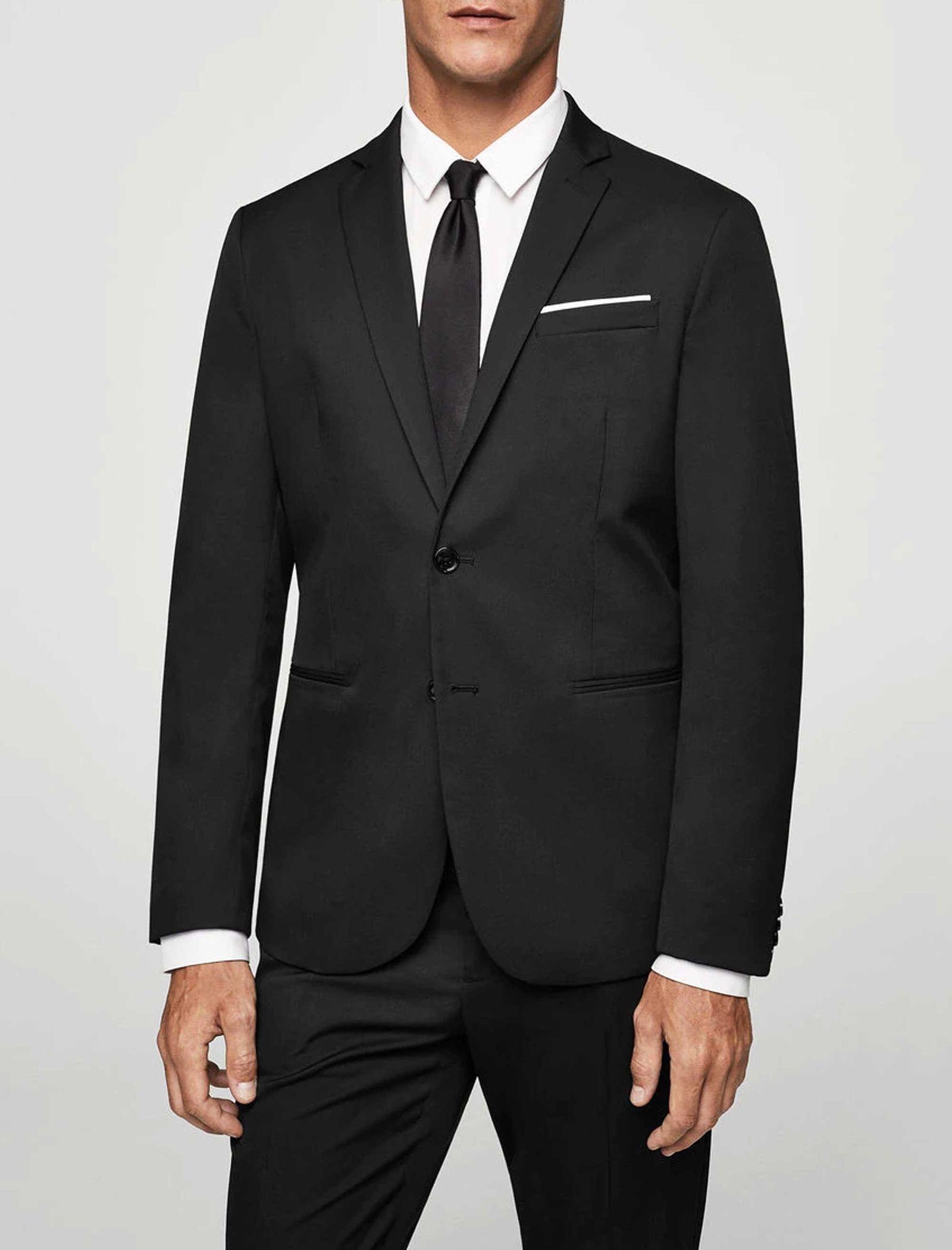 کت تک رسمی مردانه - مانگو - مشکي - 3