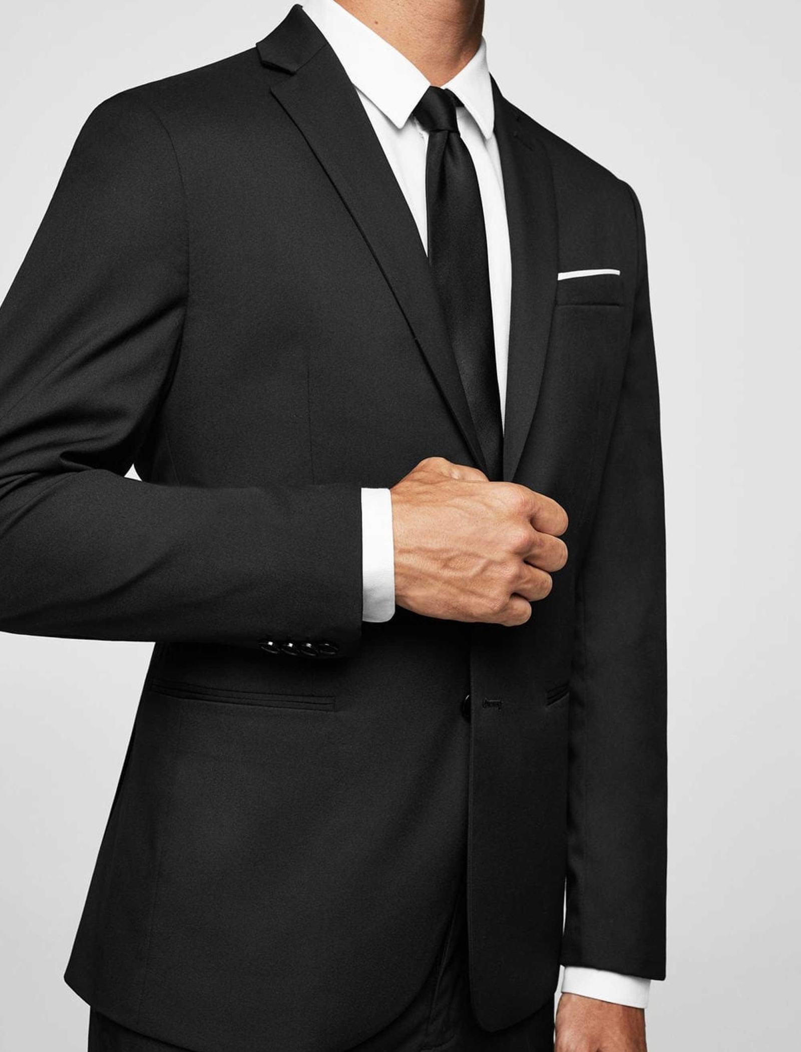 کت تک رسمی مردانه - مانگو - مشکي - 7