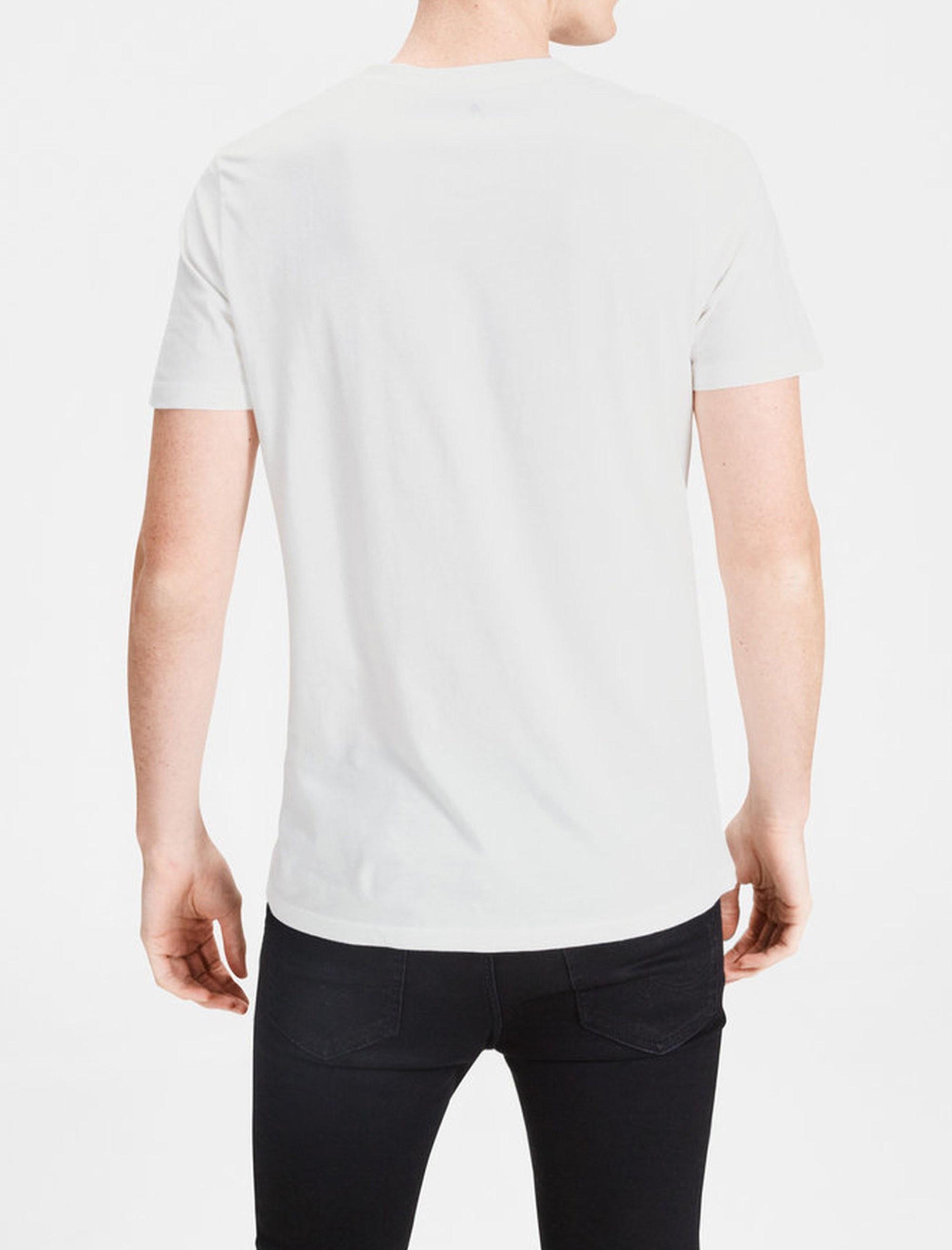 تی شرت نخی یقه گرد مردانه - جک اند جونز - سفيد - 2