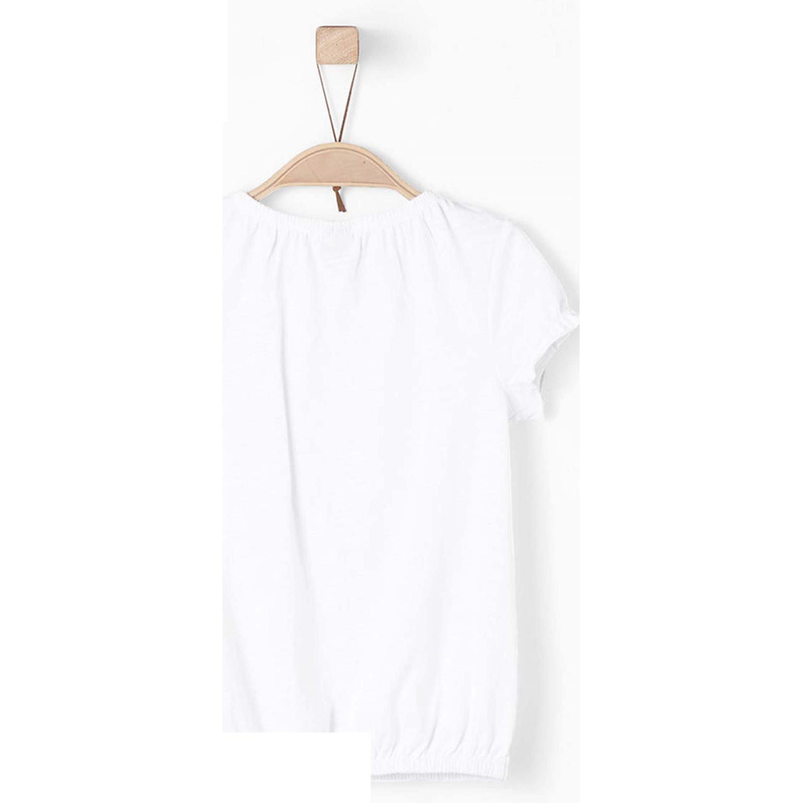 تی شرت نخی یقه گرد دخترانه - اس.اولیور - سفيد - 2