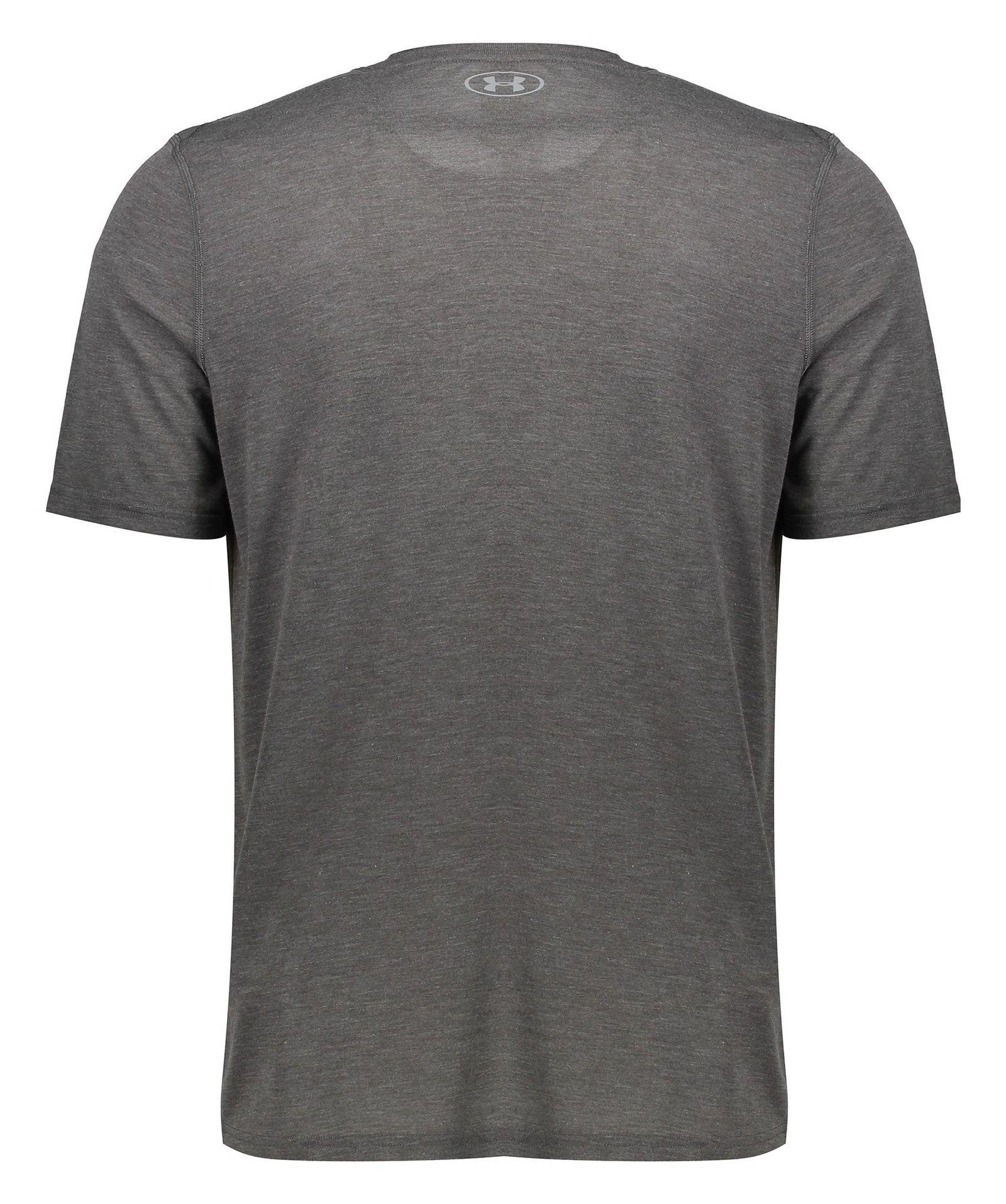 تی شرت ورزشی یقه گرد مردانه - آندر آرمور - طوسي تيره - 2