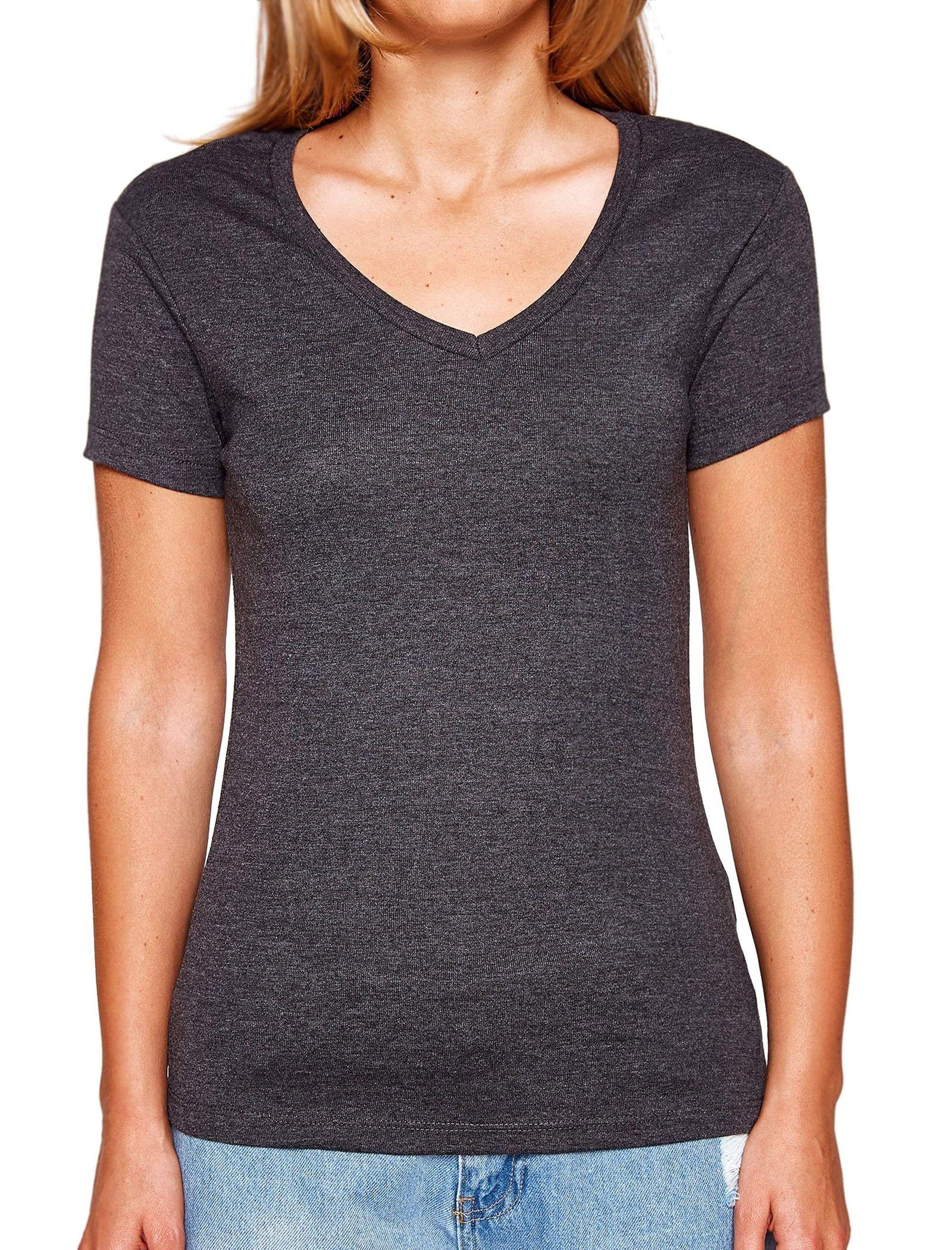 تی شرت نخی یقه هفت زنانه - کوتون - زغالي - 1
