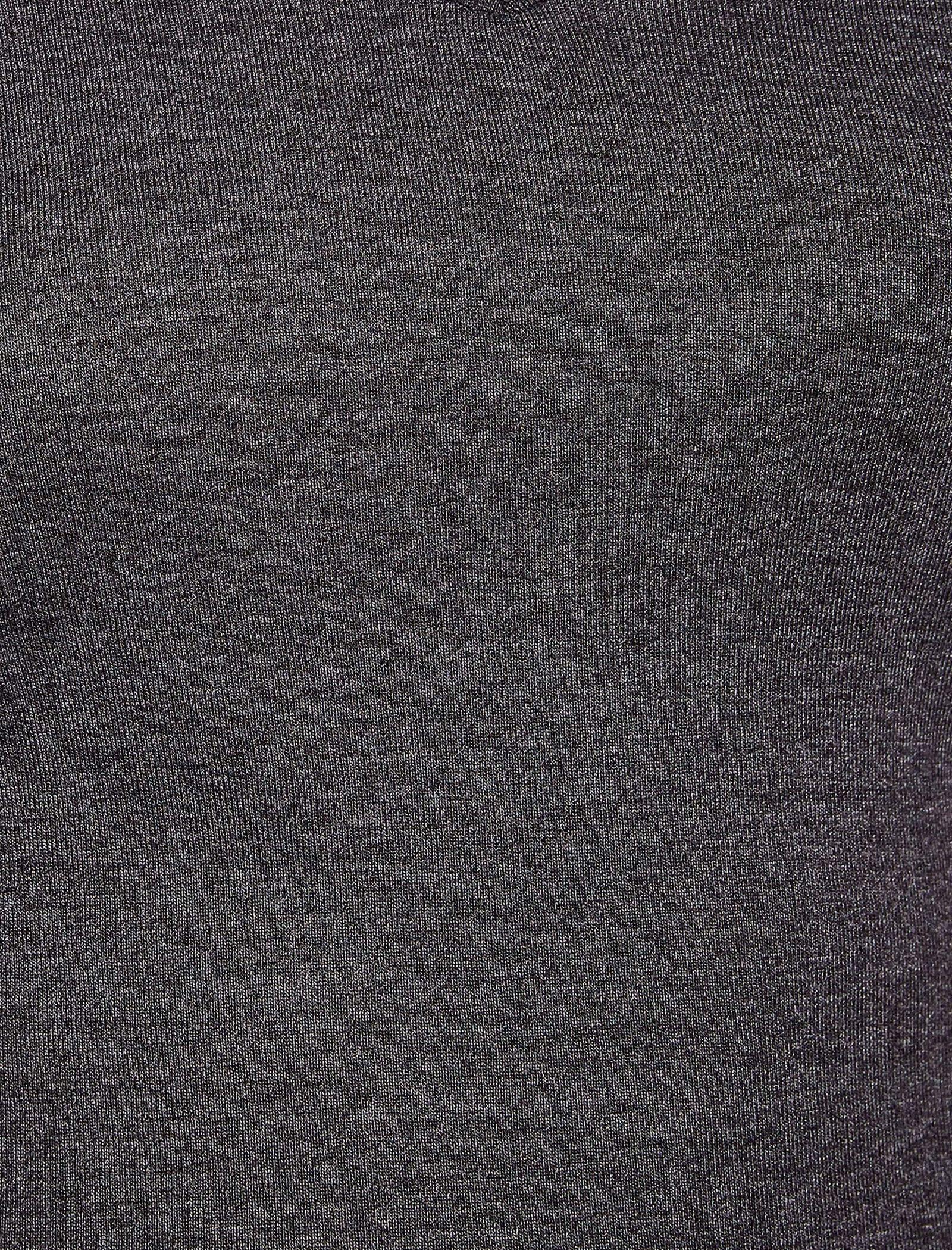 تی شرت نخی یقه هفت زنانه - کوتون - زغالي - 4
