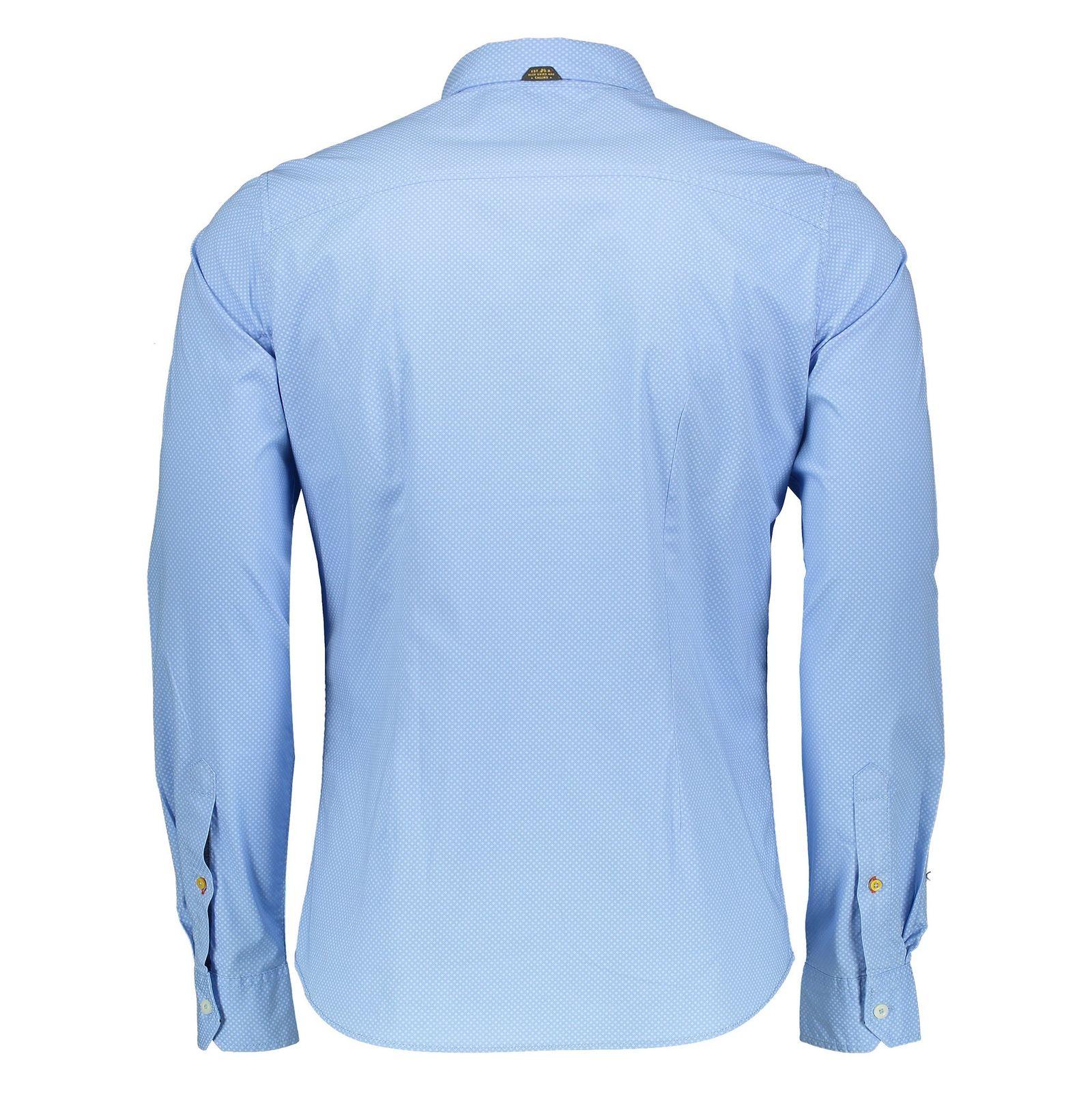 پیراهن نخی آستین بلند مردانه - اس.اولیور - آبي روشن - 2